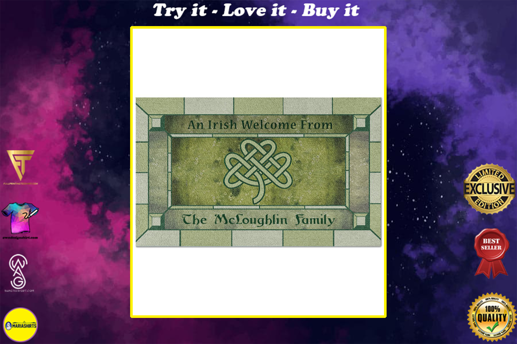 Personalized an irish welcome from full printing doormat