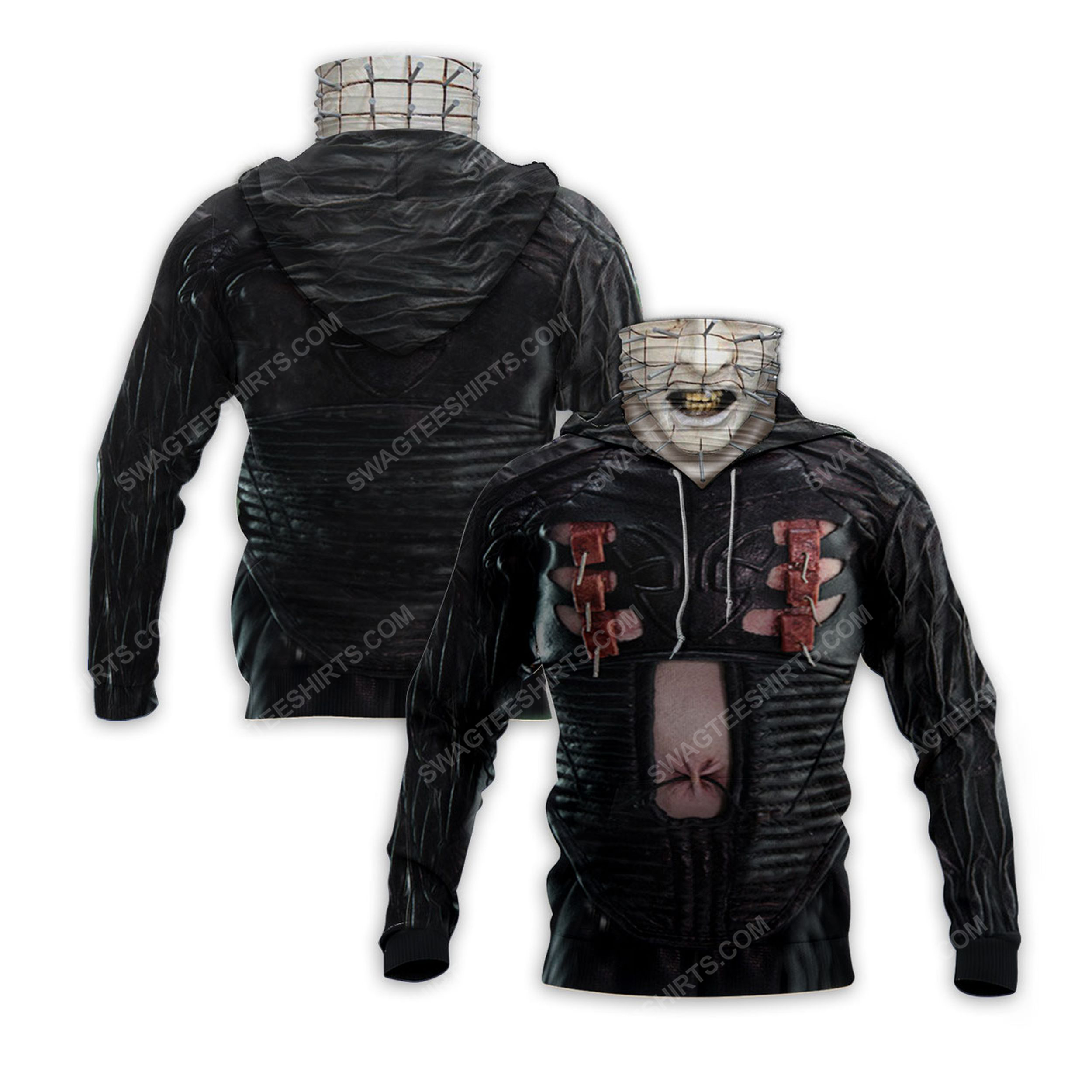 Pinhead the hell priest for halloween full print mask hoodie 2(1) - Copy