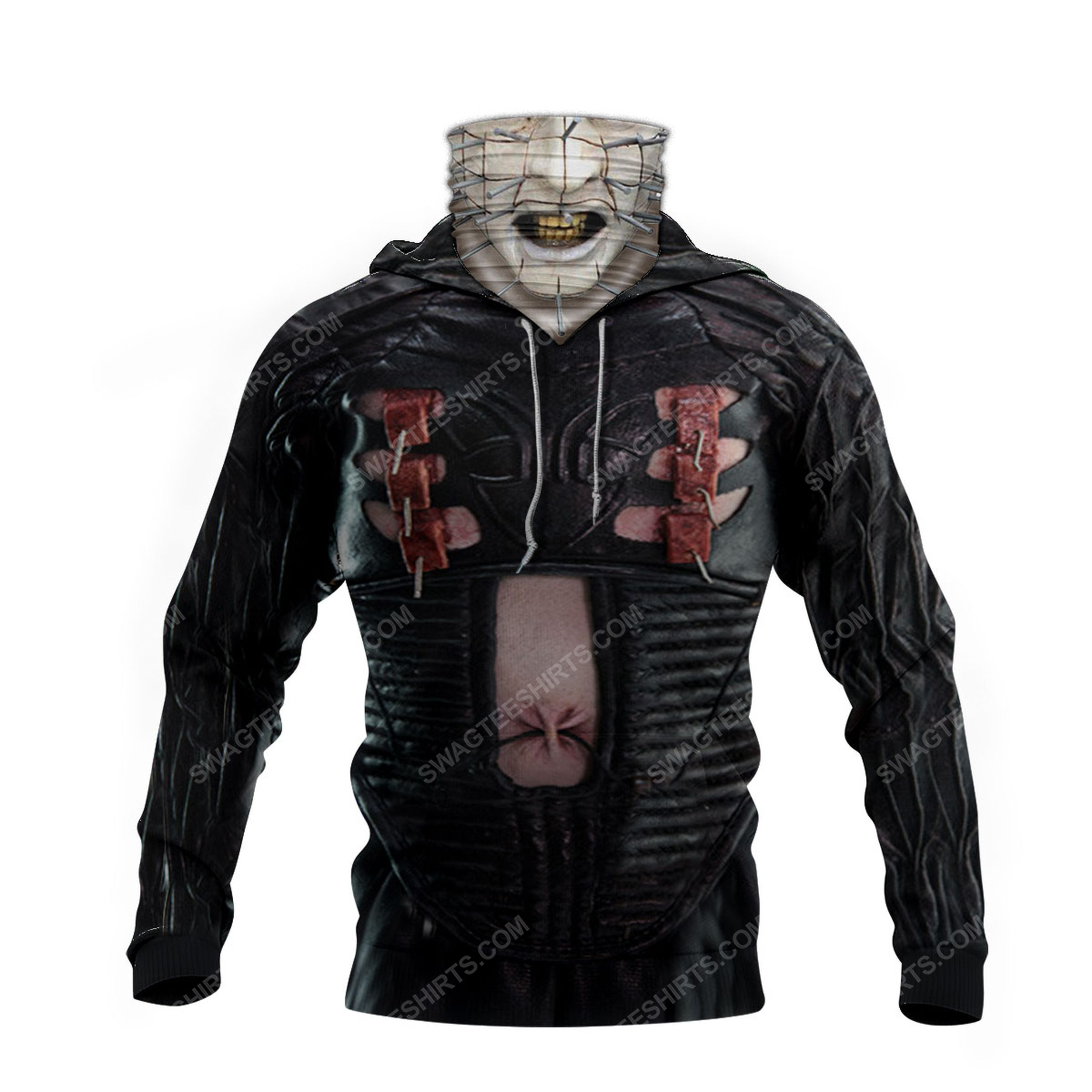 Pinhead the hell priest for halloween full print mask hoodie 3(1)