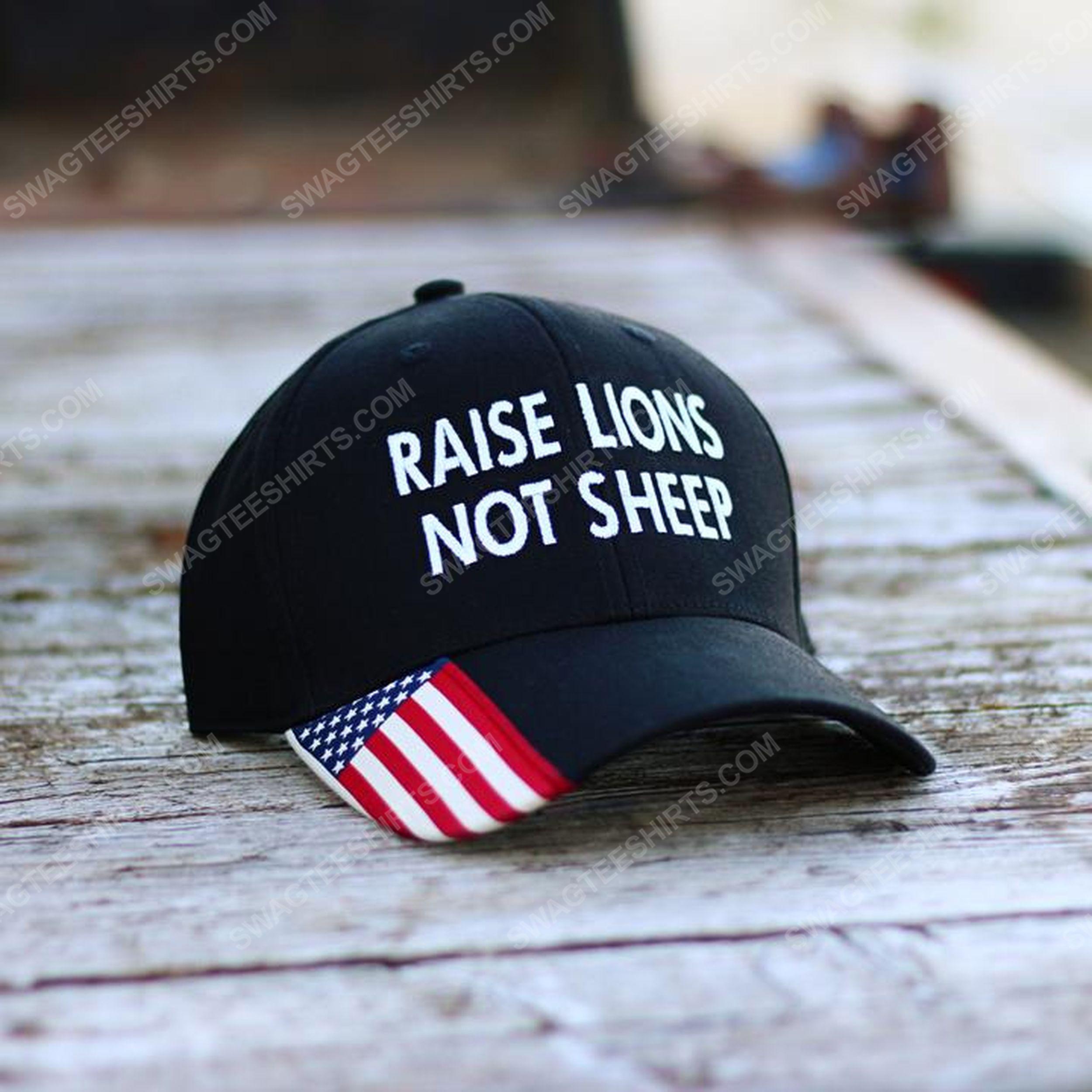 Raise lions not sheep full print classic hat 1
