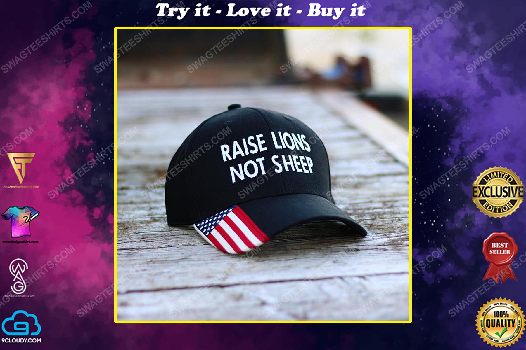 Raise lions not sheep full print classic hat