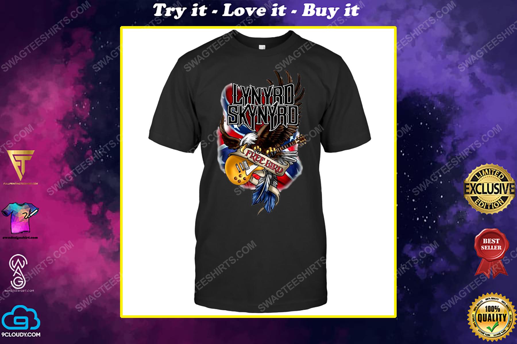 Rock band lynyrd skynyrd free bird shirt