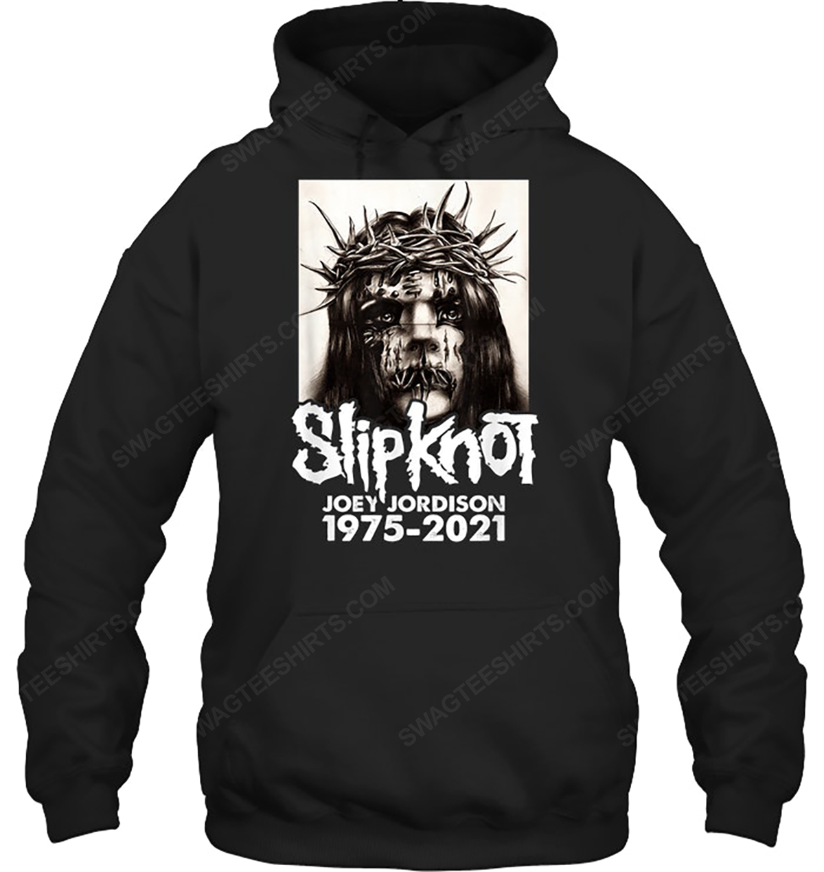 Rock band slipknot joey jordison 1975 2021 hoodie 1
