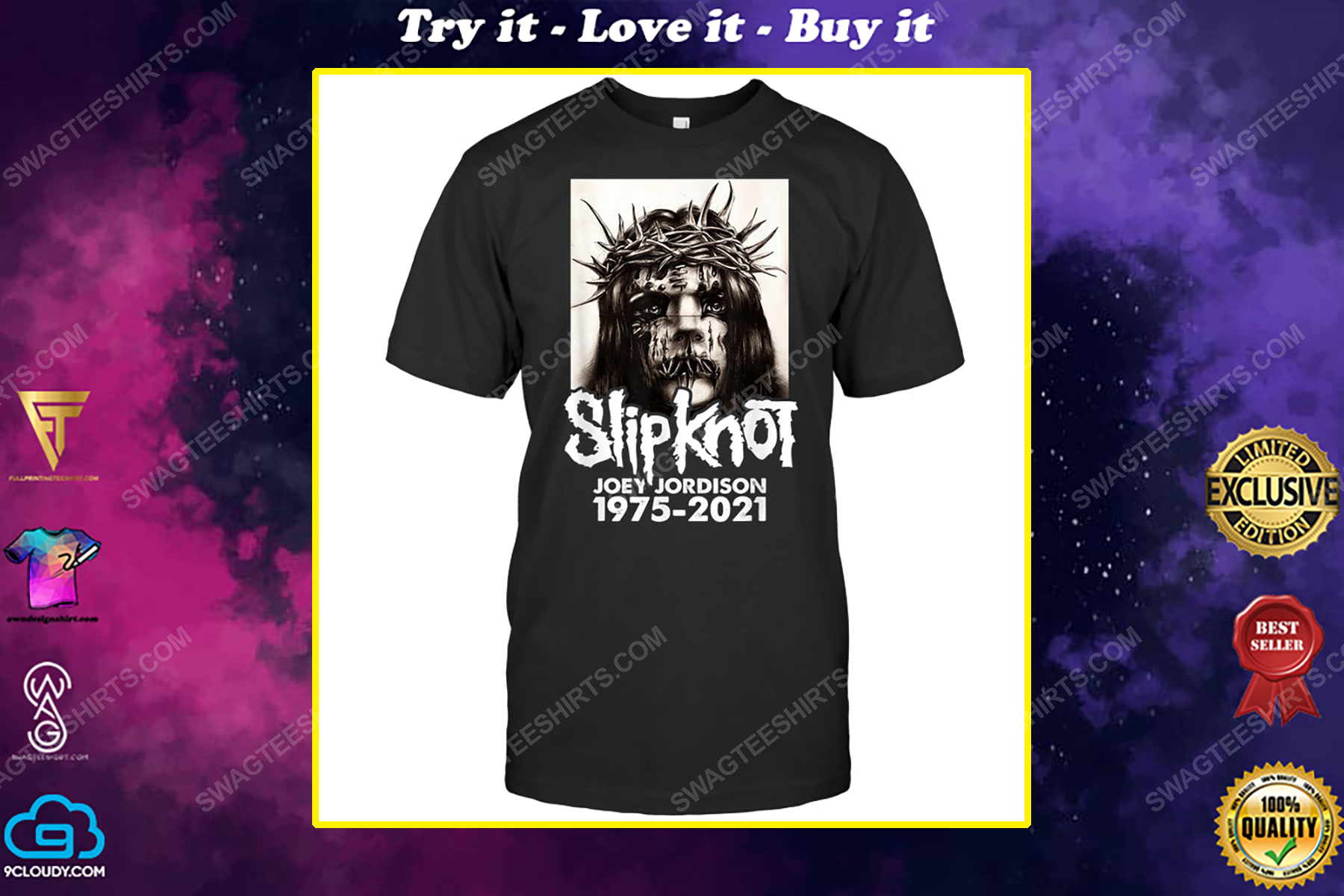 Rock band slipknot joey jordison 1975 2021 shirt