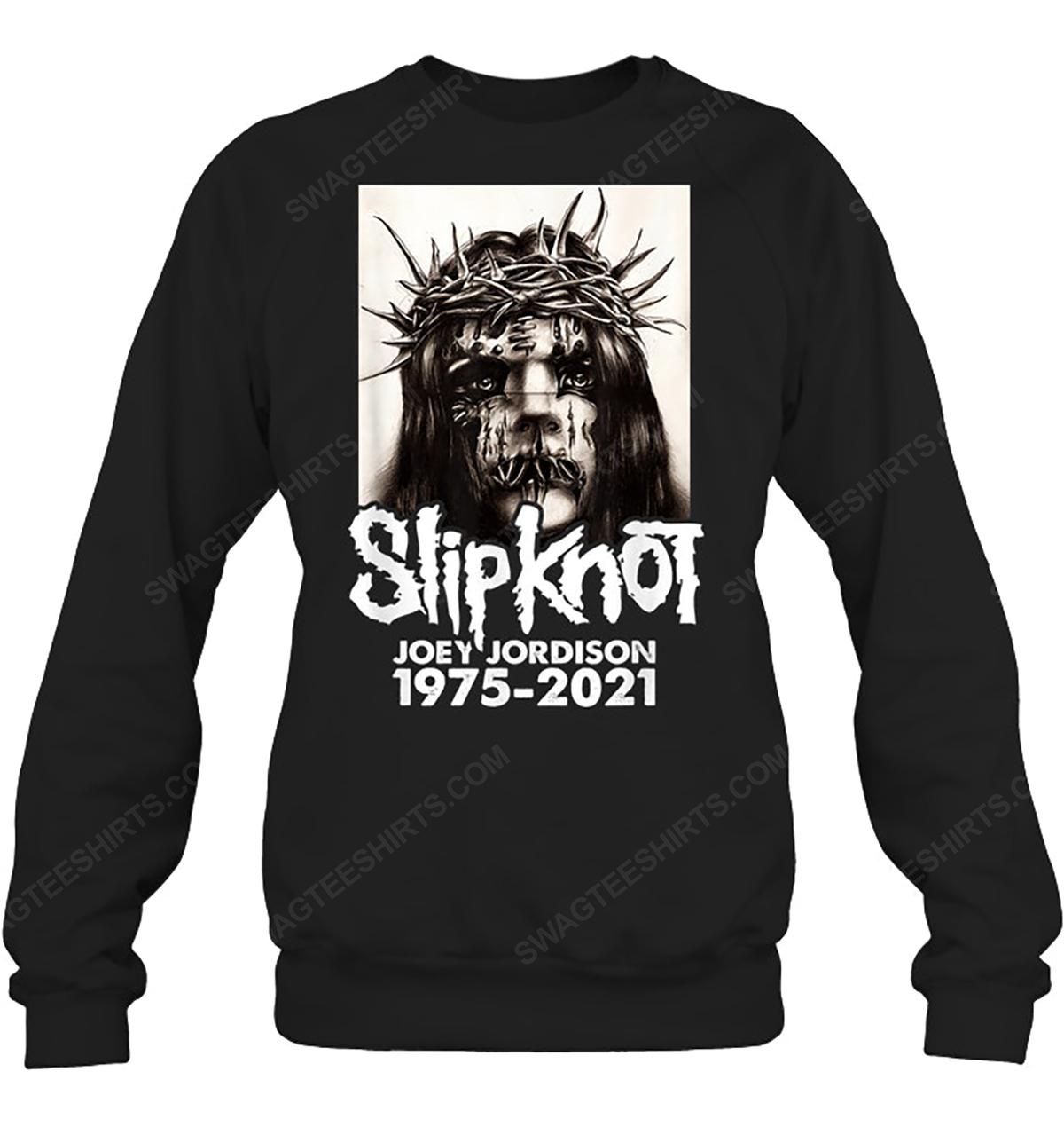 Rock band slipknot joey jordison 1975 2021 sweatshirt 1