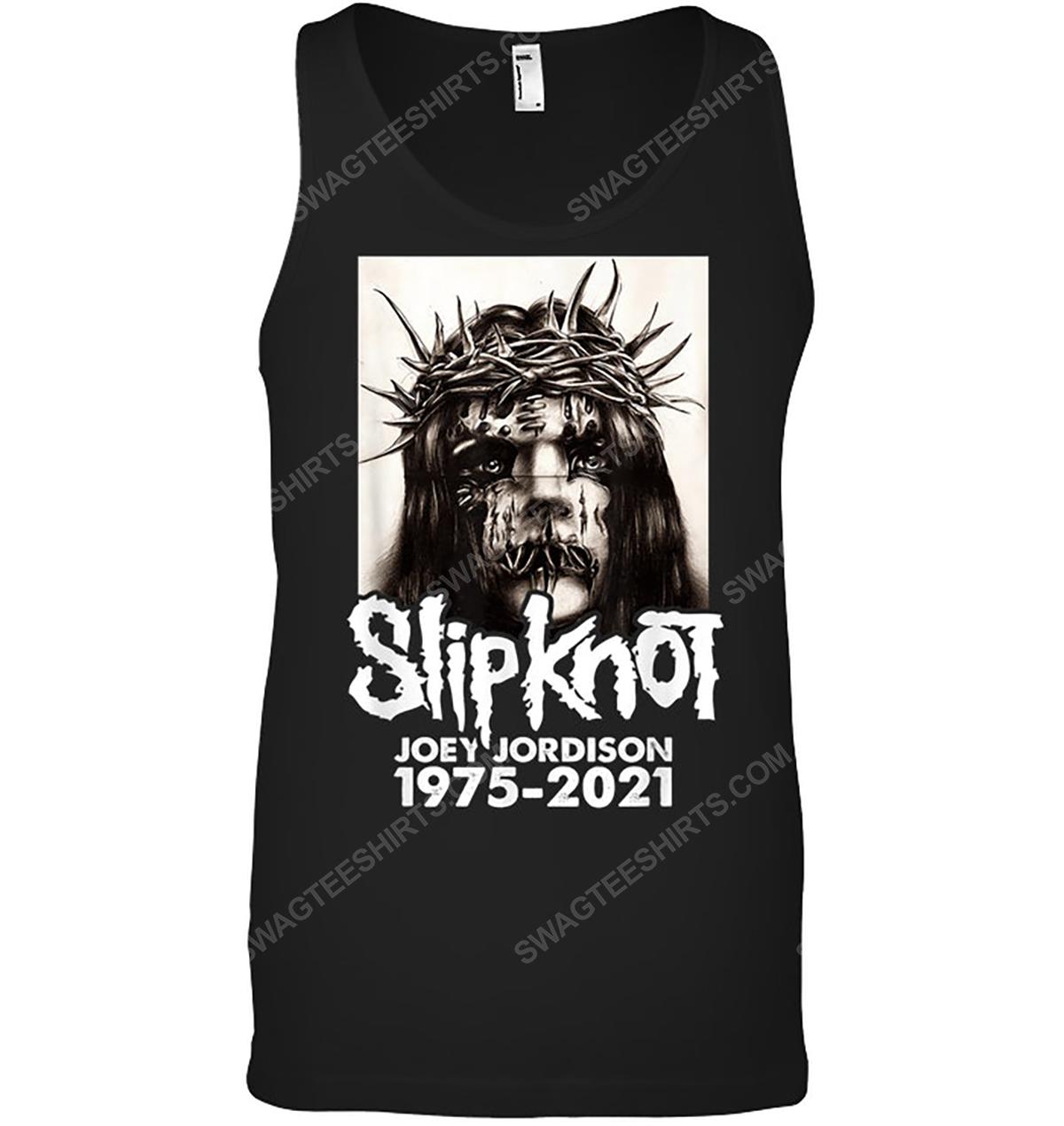 Rock band slipknot joey jordison 1975 2021 tank top 1