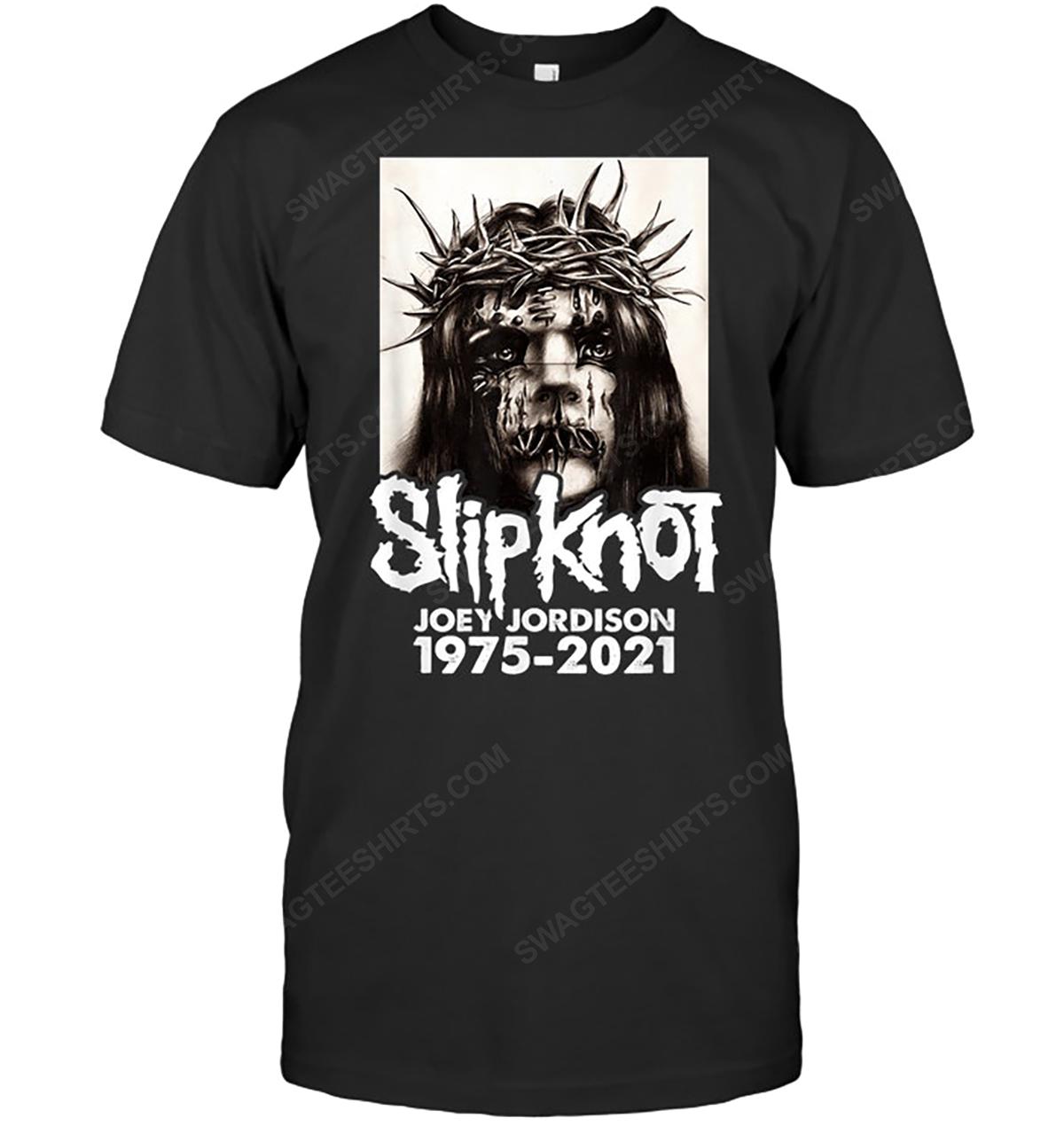 Rock band slipknot joey jordison 1975 2021 tshirt 1