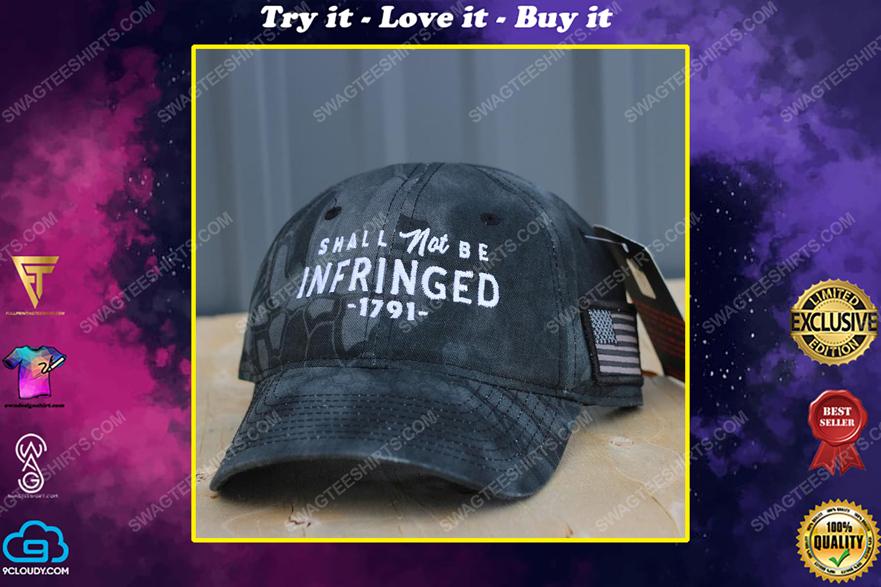 Shall not be infringed full print classic hat
