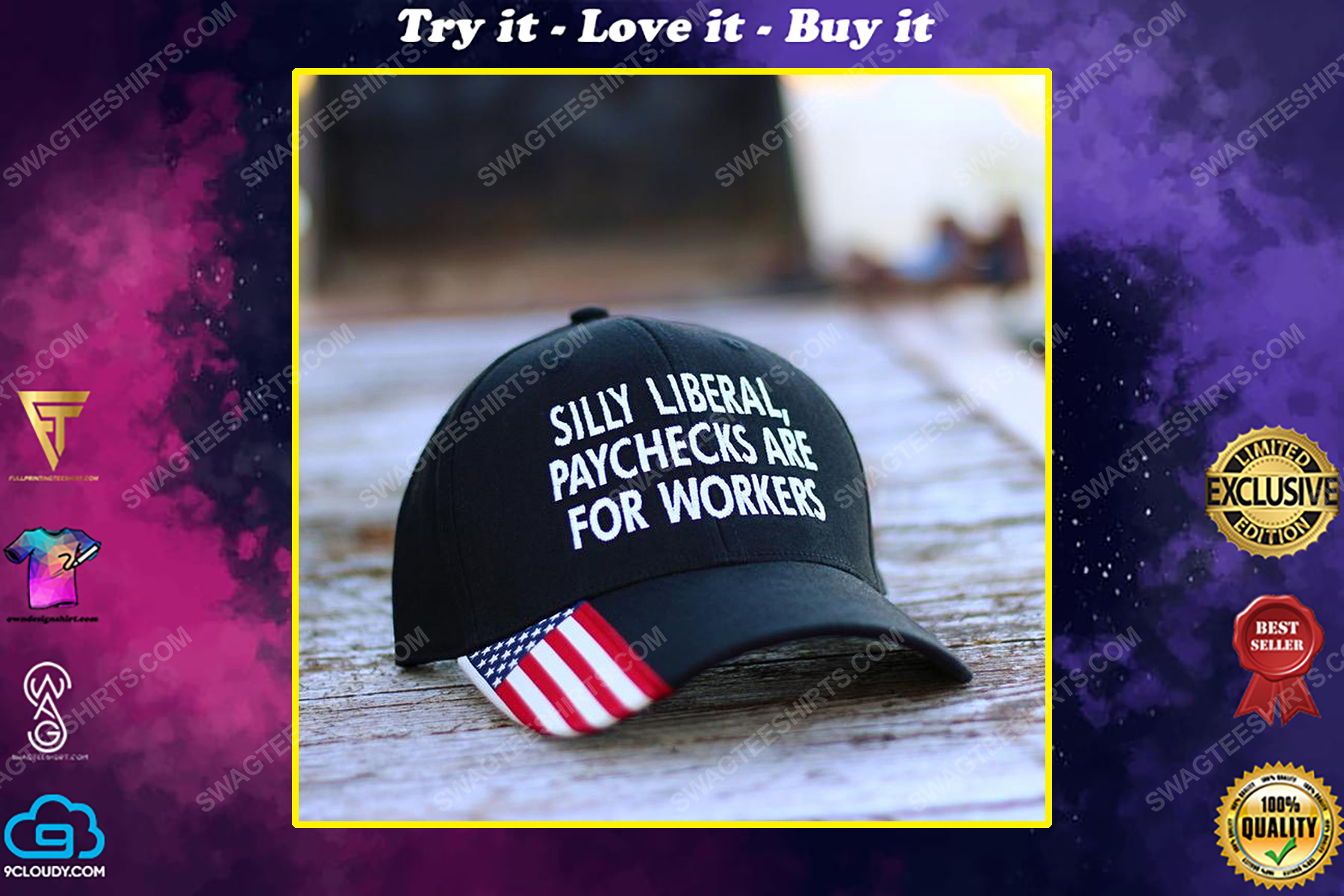 Silly liberal paychecks are for workers full print classic hat