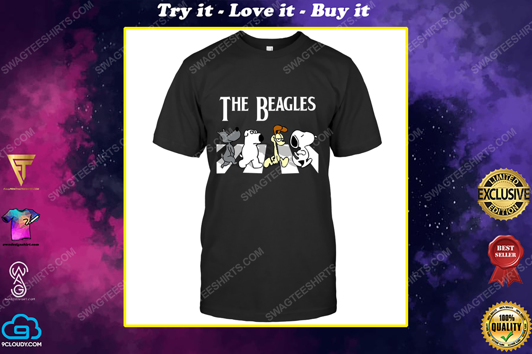 Snoopy and friends the beagles abbey road shirt