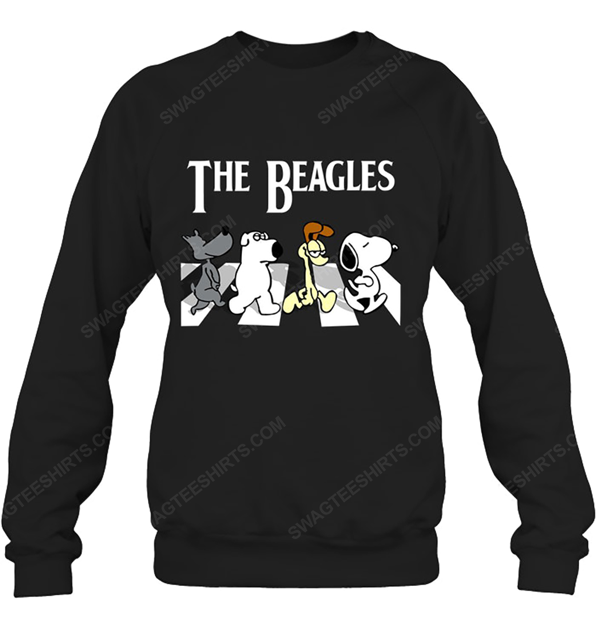 Snoopy and friends the beagles abbey road sweatshirt 1