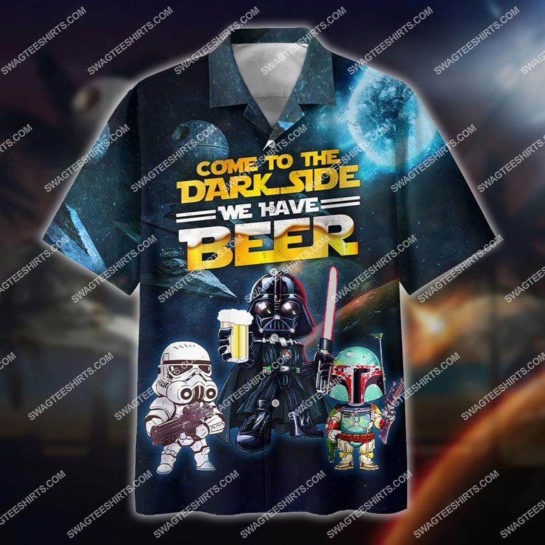 Star wars come to the dark side we have beer hawaiian shirt 1