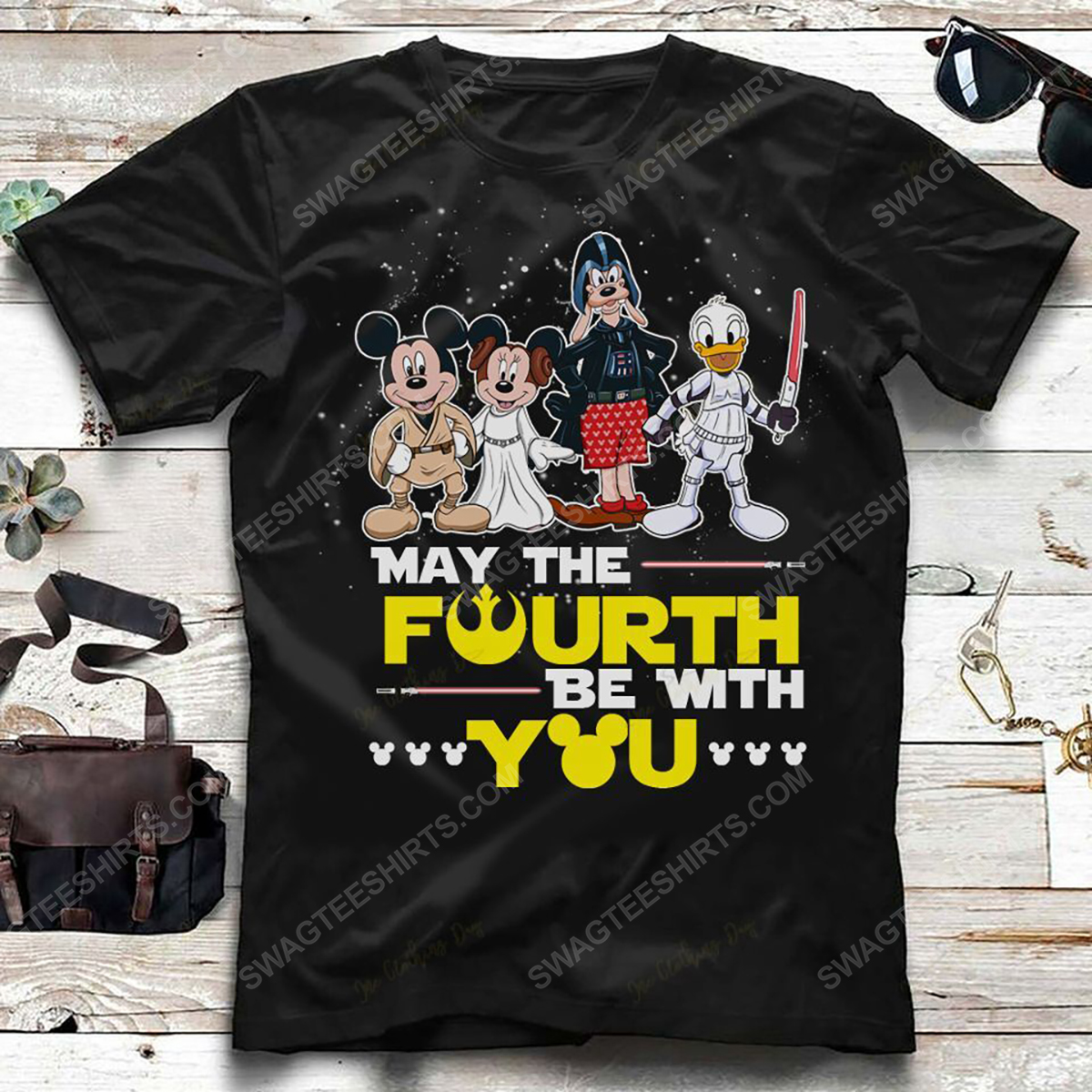 Star wars may the force be with you and mickey mouse shirt 2(1)