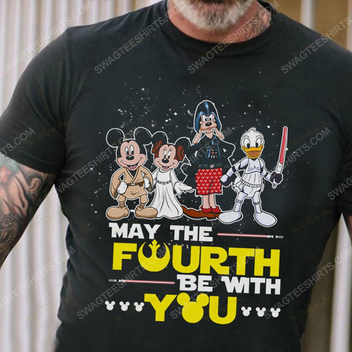 Star wars may the force be with you and mickey mouse shirt 5(1)
