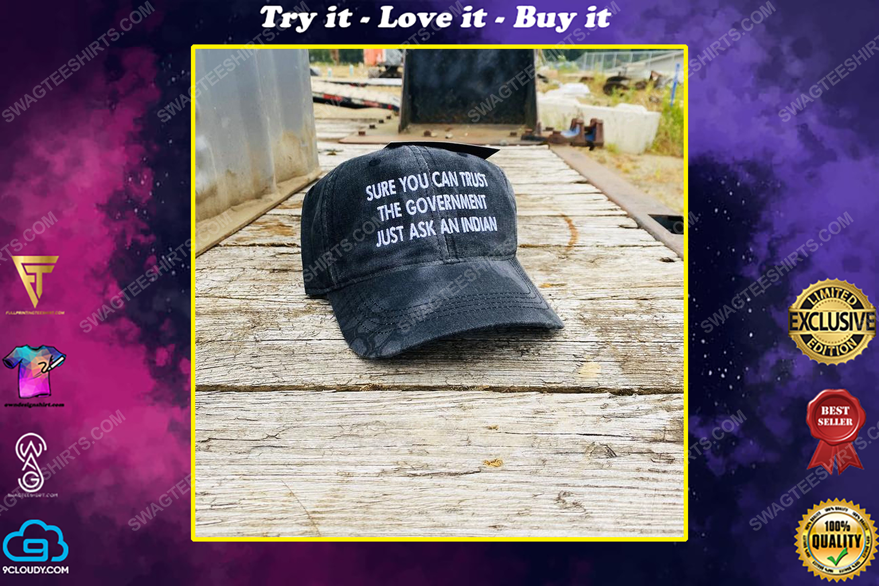 Sure you can trust a government just ask an indian full print classic hat