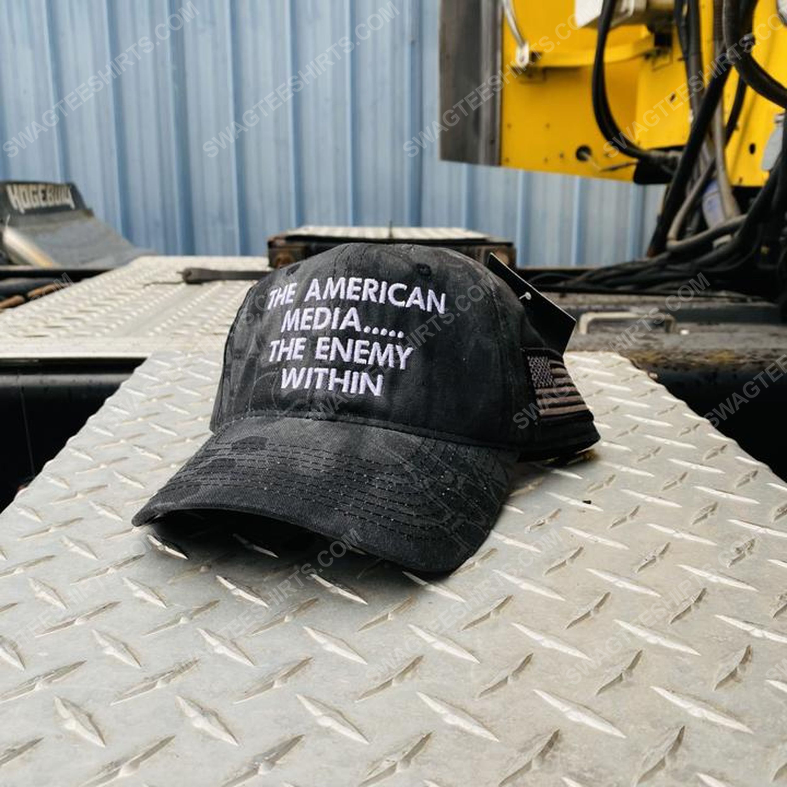 The american media the enemy within full print classic hat 1