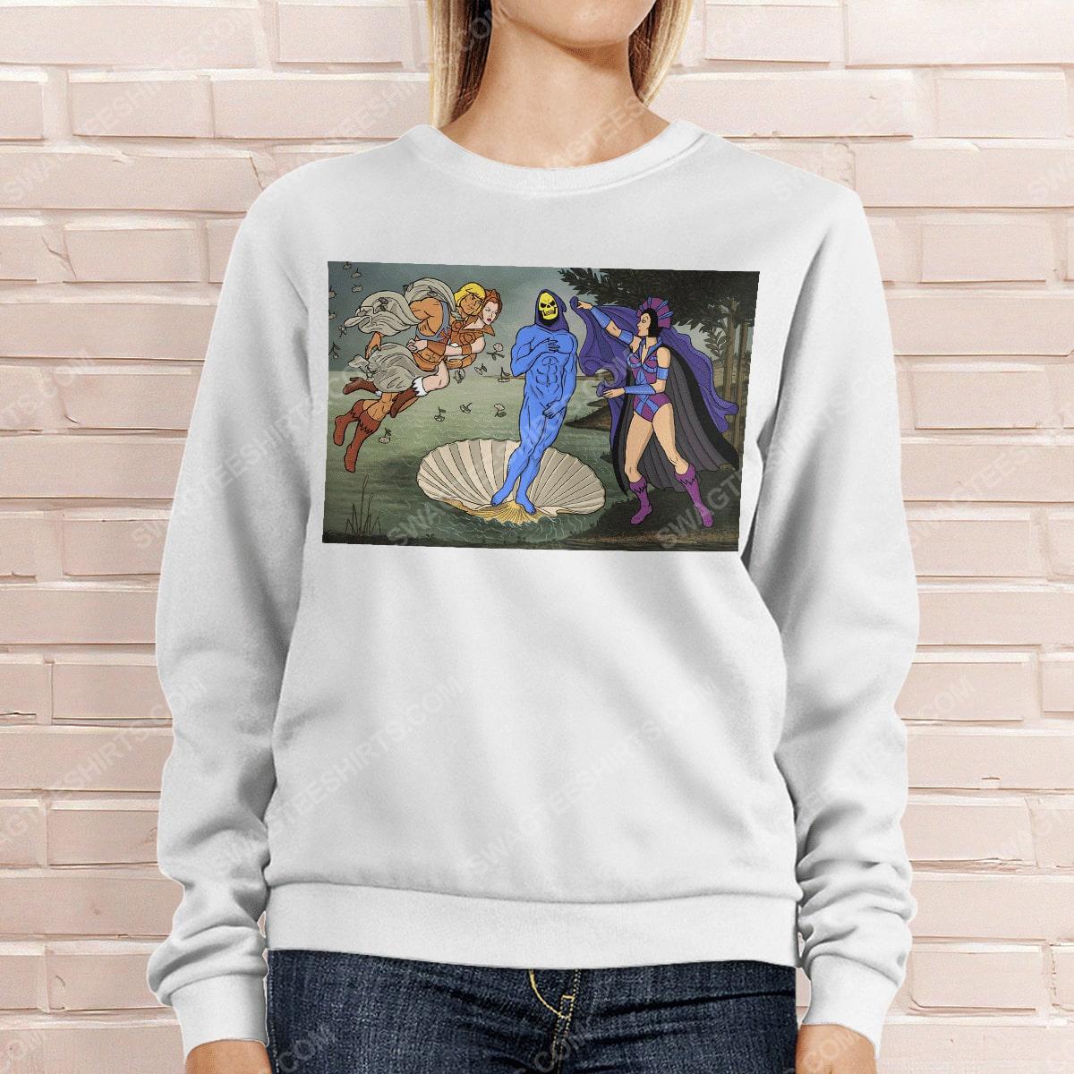 The birth of venus renaissance masters sweatshirt 1(1)