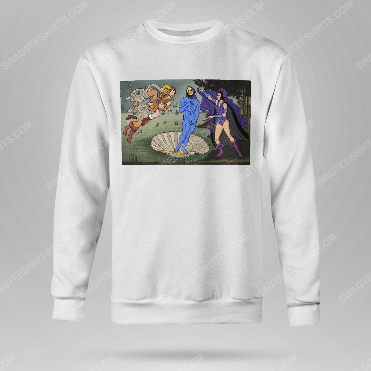The birth of venus renaissance masters sweatshirt(1)