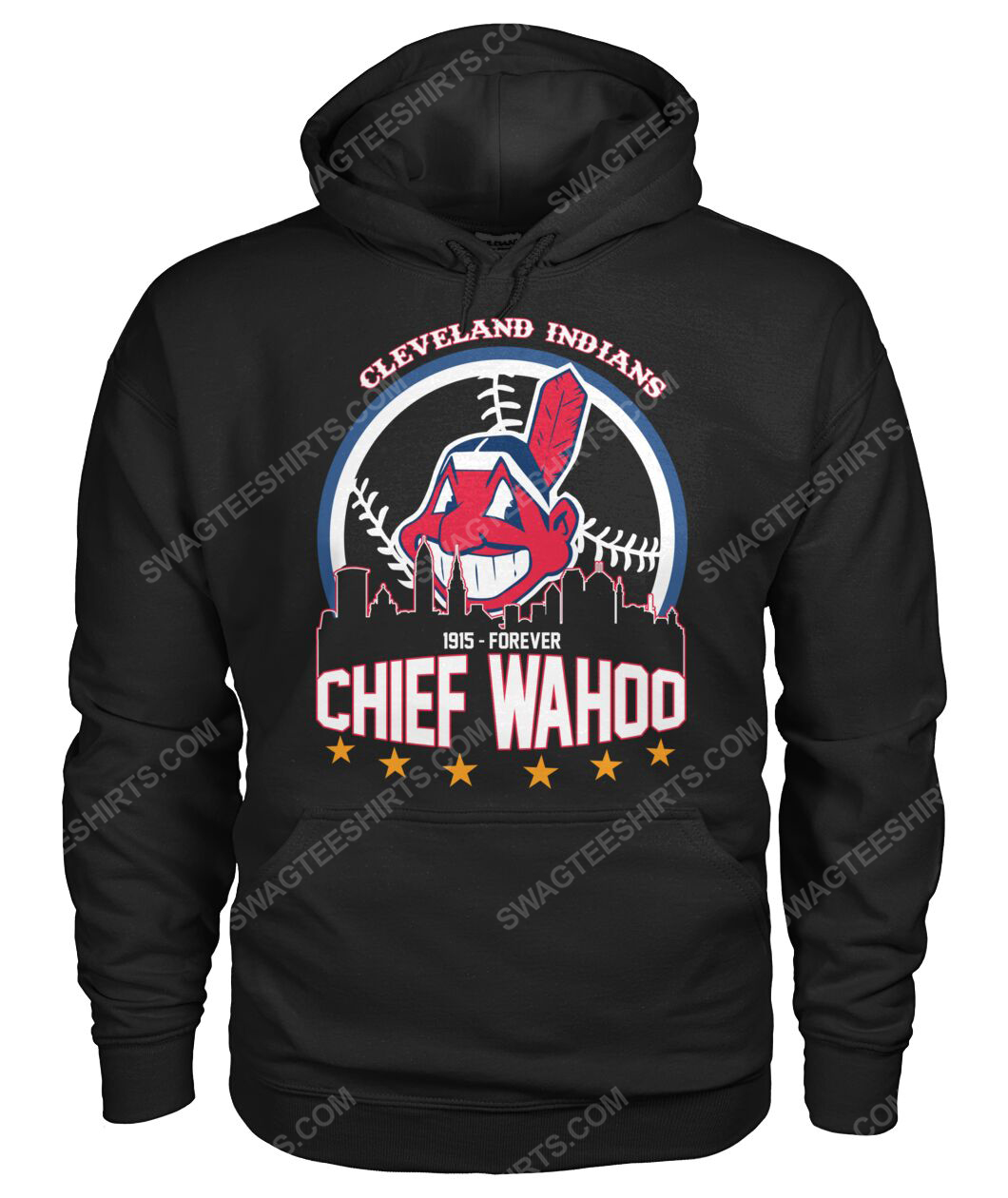 The cleveland indians 1915 forever chief wahoo hoodie 1