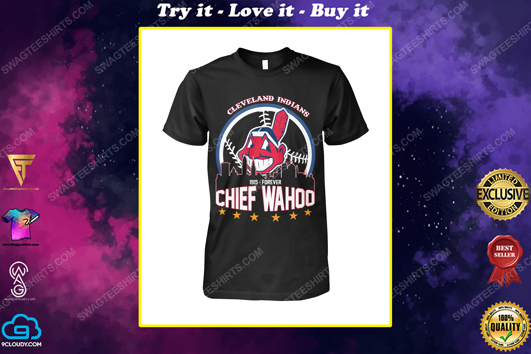 The cleveland indians 1915 forever chief wahoo shirt