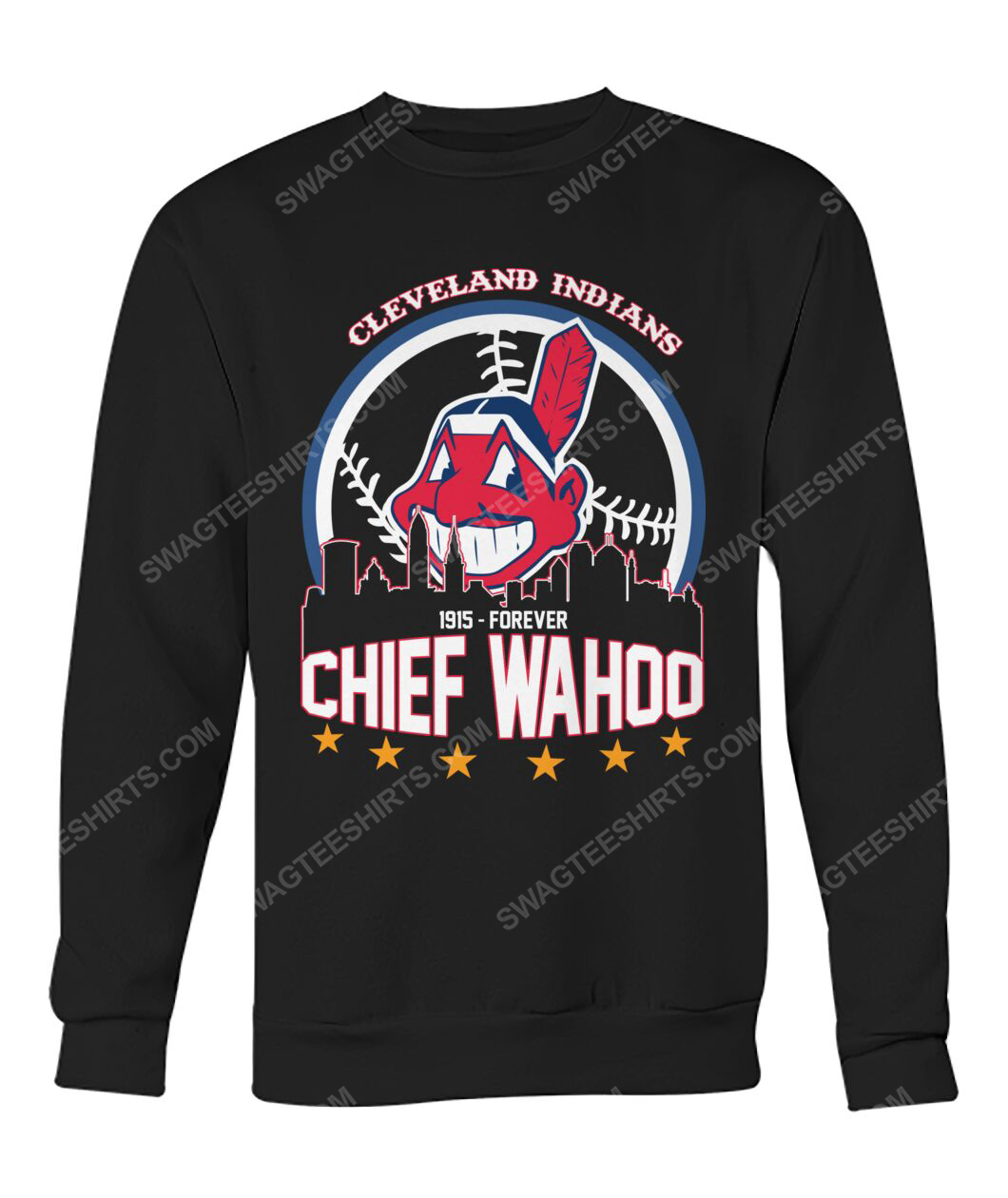 The cleveland indians 1915 forever chief wahoo sweatshirt 1