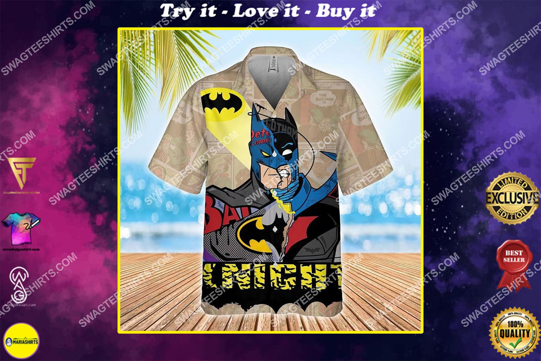 The dark knight batman dc comic hawaiian shirt