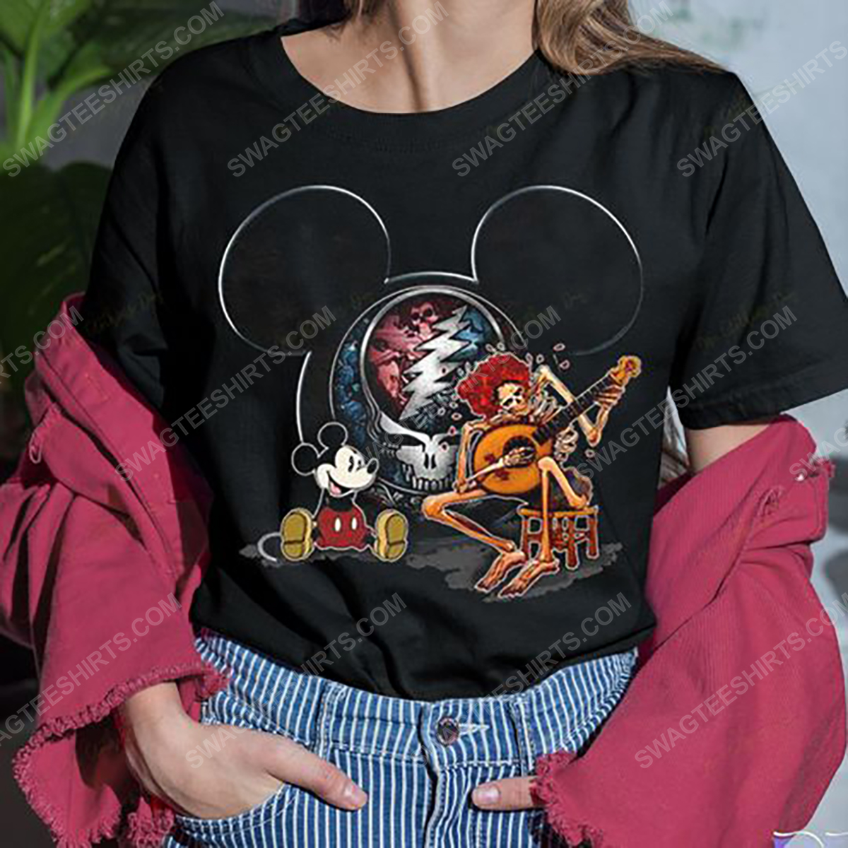 The grateful dead rock band and mickey mouse shirt 3(1)
