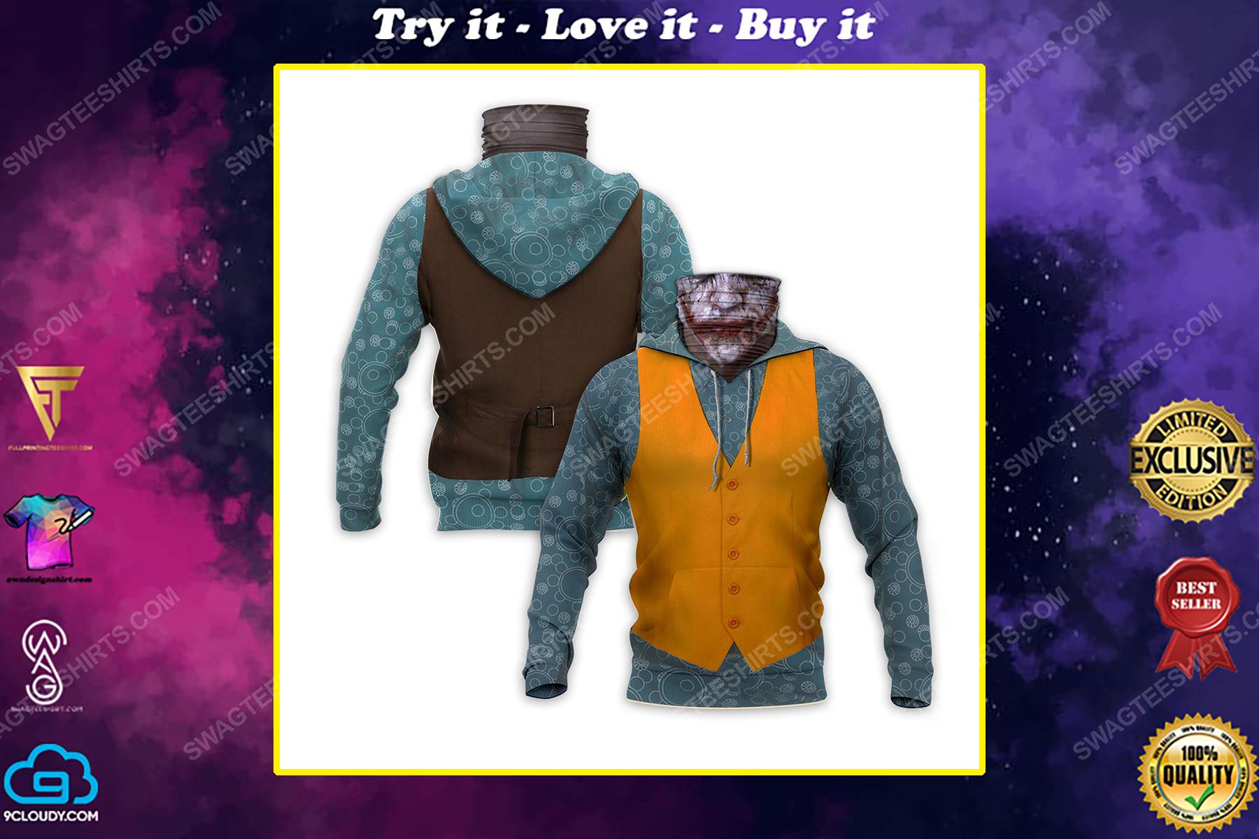The joker movie full print mask hoodie