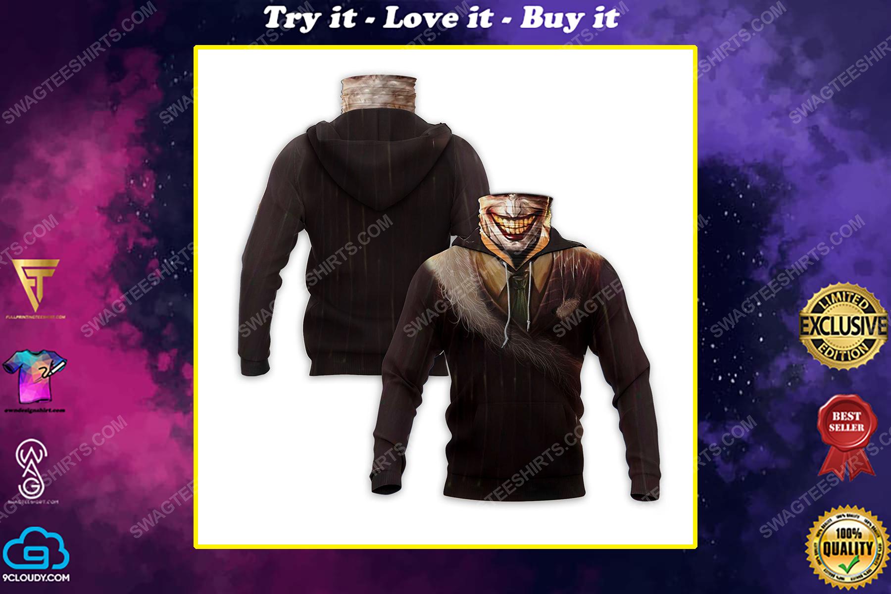 The joker's smile full print mask hoodie