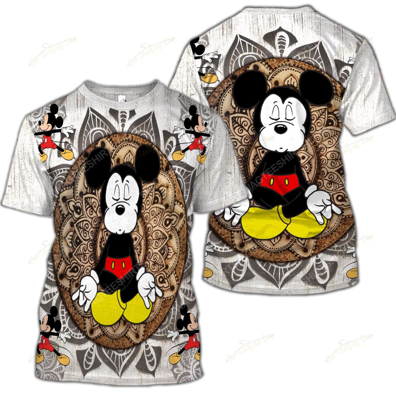 The mickey mouse namaste full printed shirt 5(1)