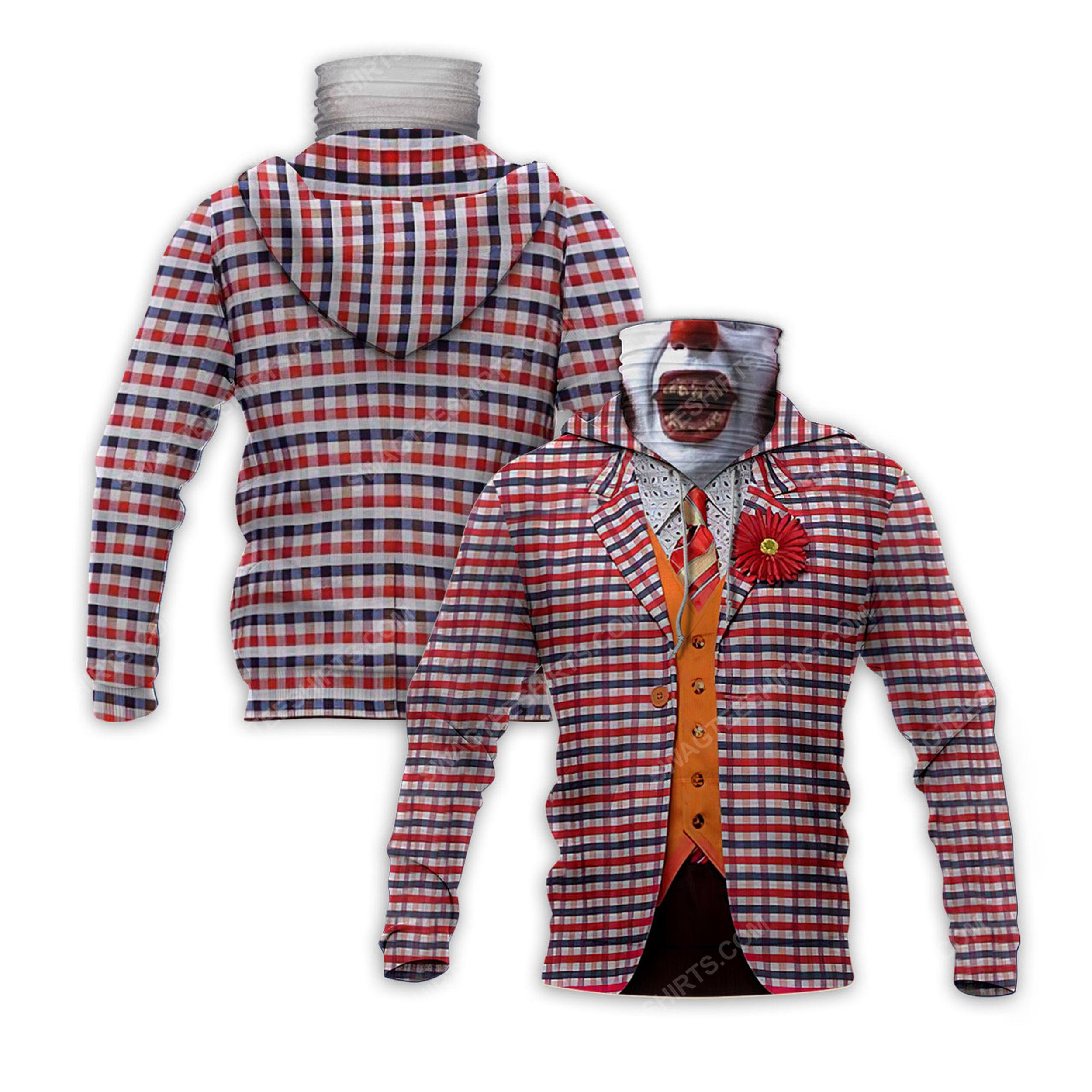 The movie joker for halloween full print mask hoodie 2(1) - Copy