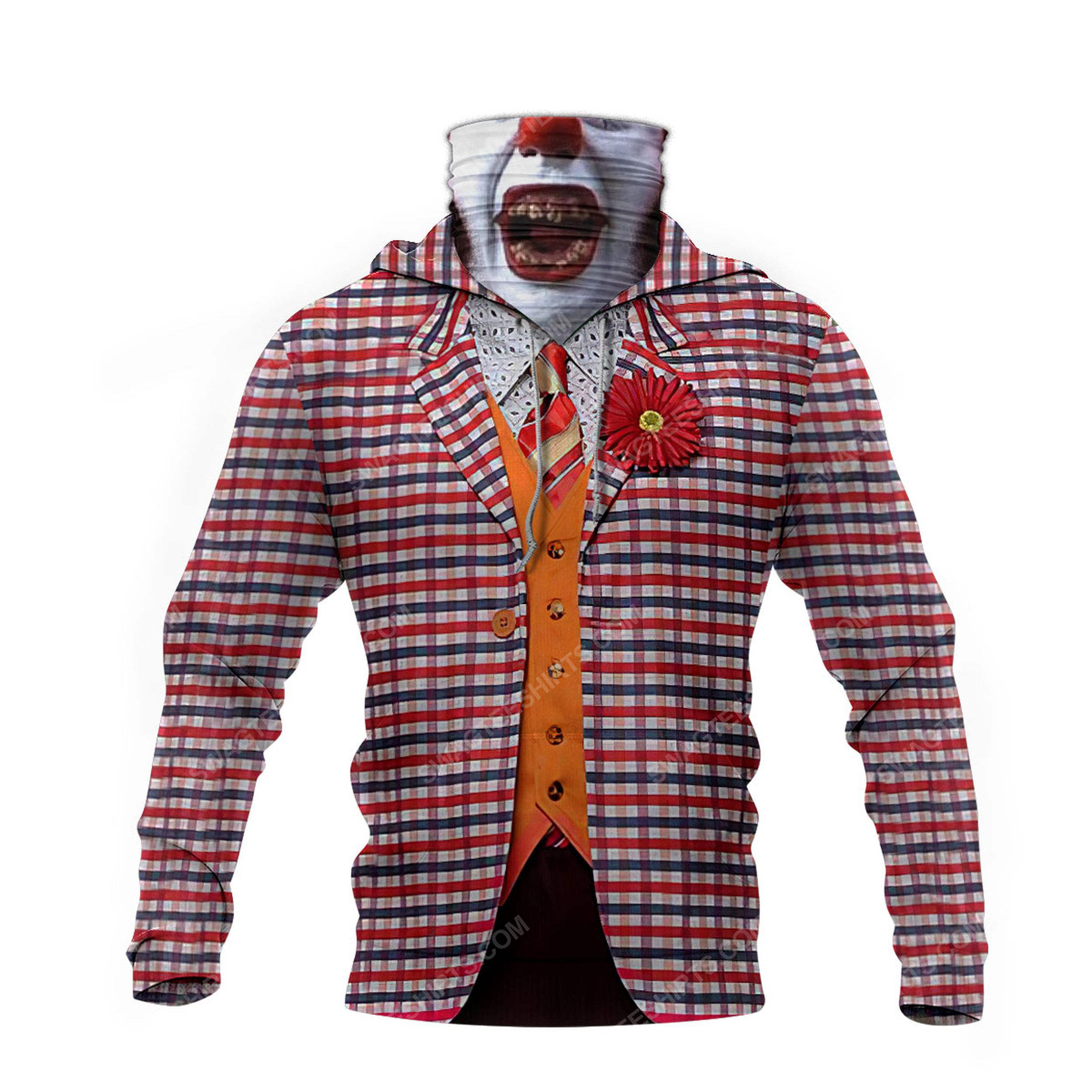 The movie joker for halloween full print mask hoodie 4(1)
