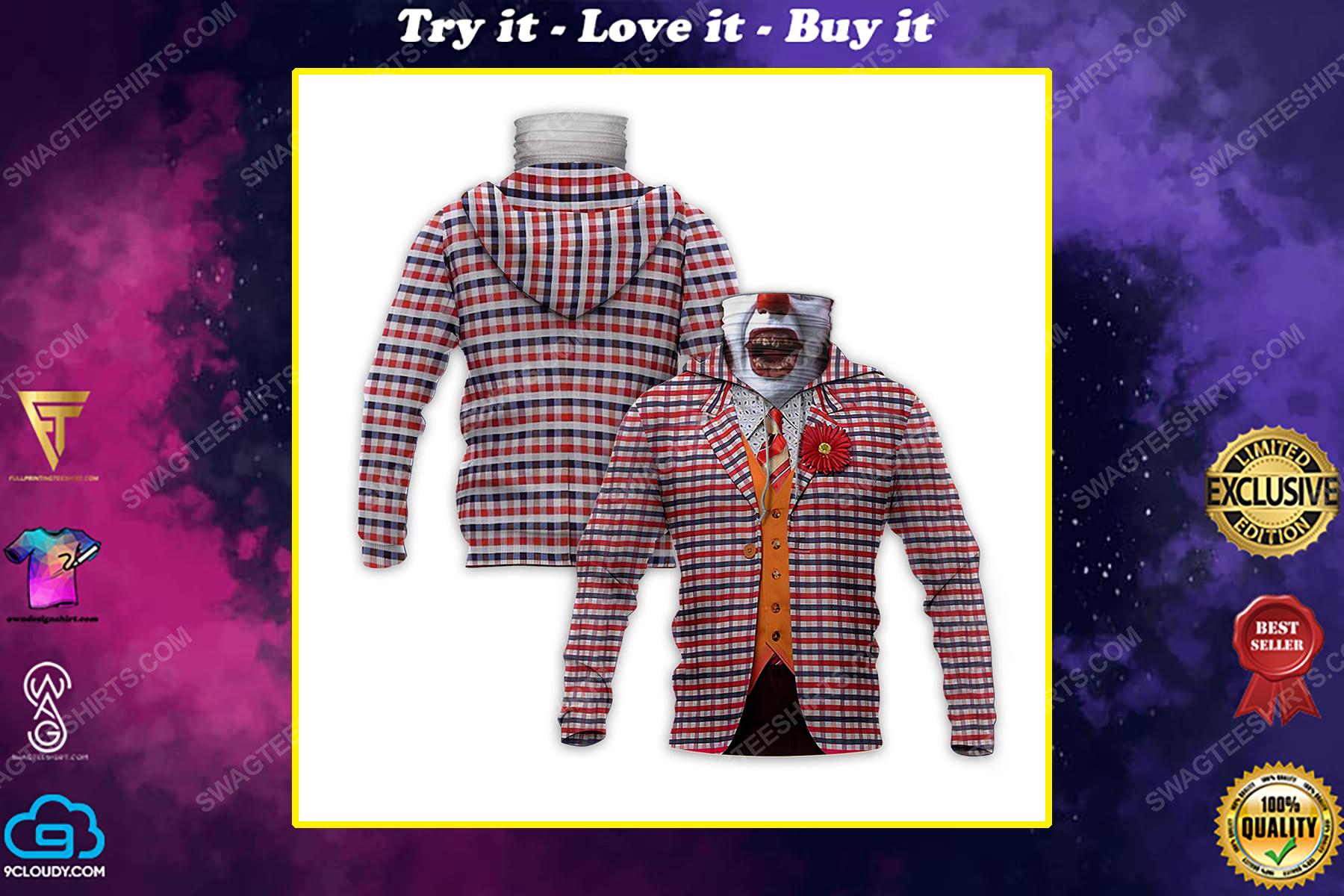 The movie joker for halloween full print mask hoodie