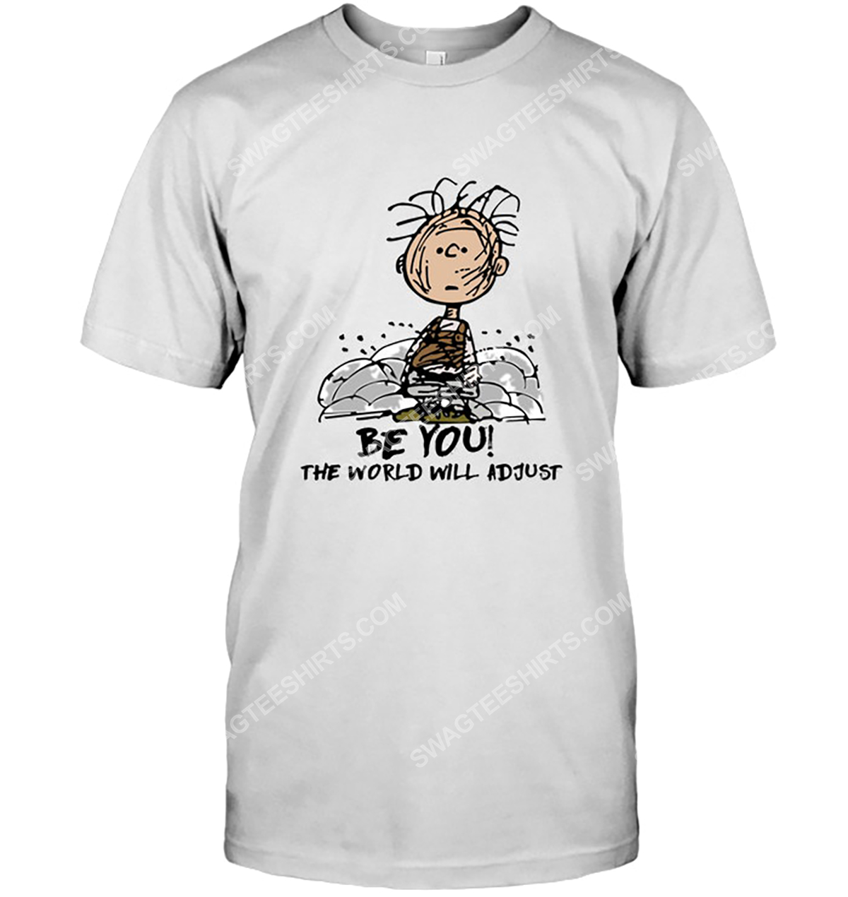 The peanuts charlie brown be you the world will adjust tshirt 1