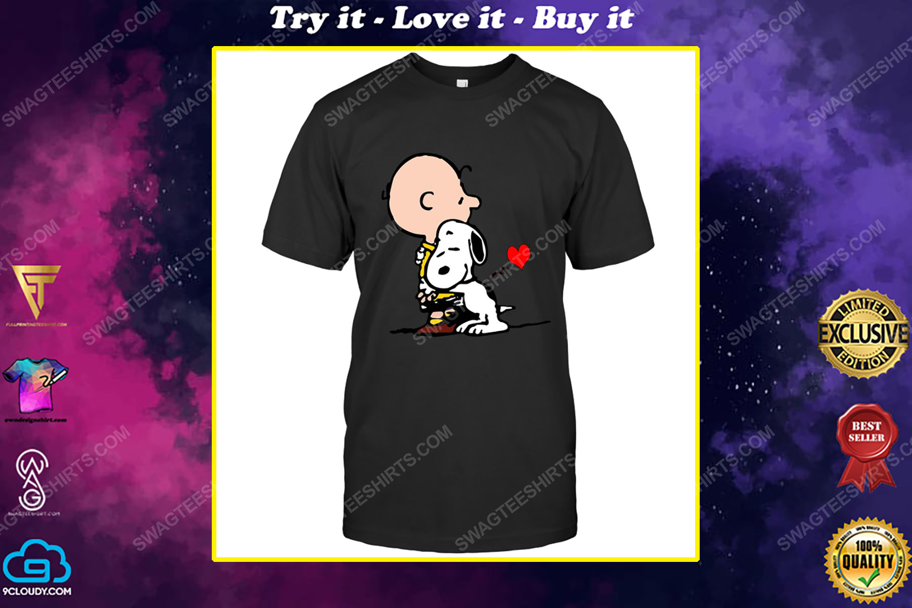 The peanuts snoopy and charlie brown love shirt
