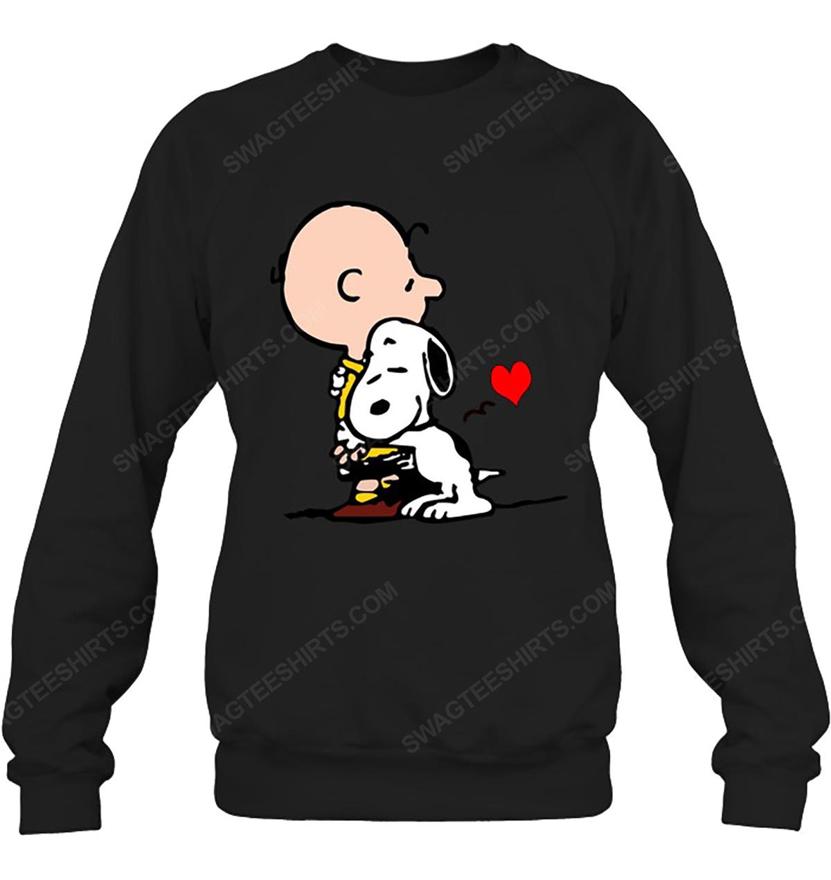 The peanuts snoopy and charlie brown love sweatshirt 1