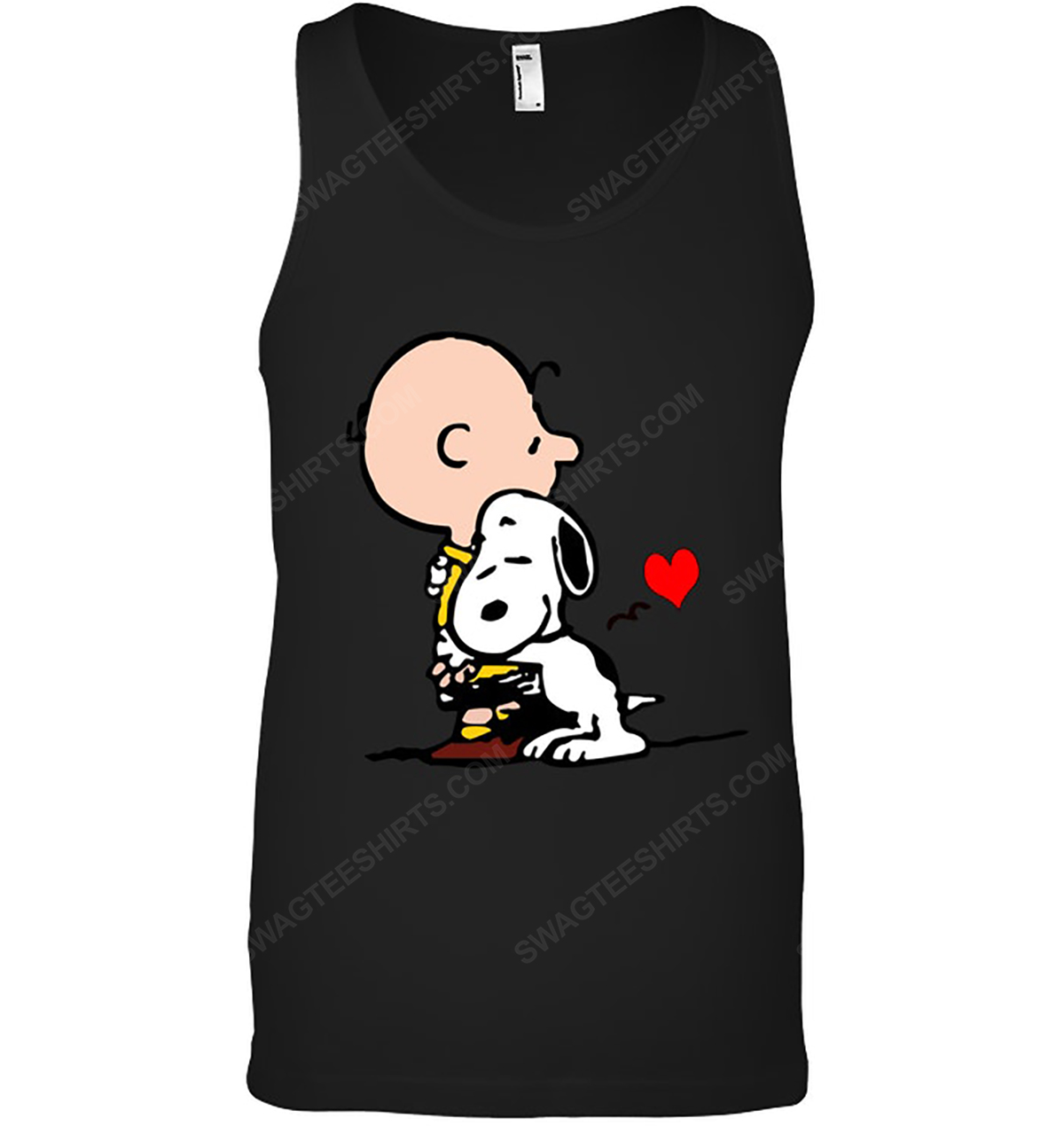 The peanuts snoopy and charlie brown love tank top 1