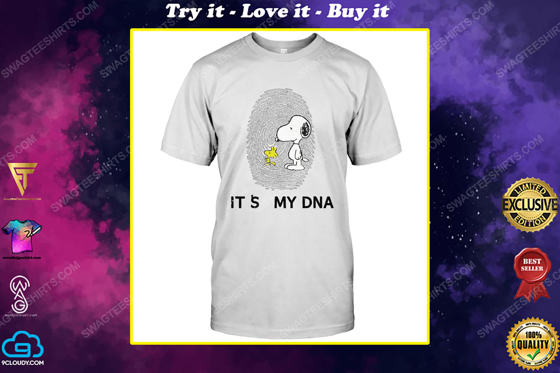 The peanuts snoopy and woodstock it's my dna shirt