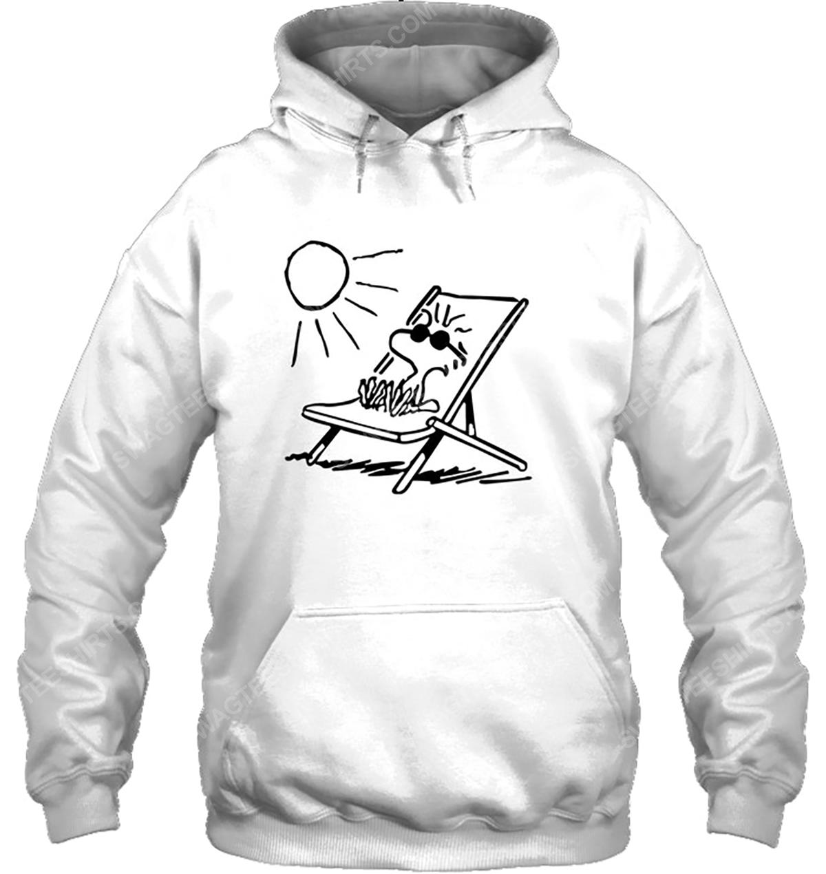 The peanuts woodstock enjoy the sun hoodie 1