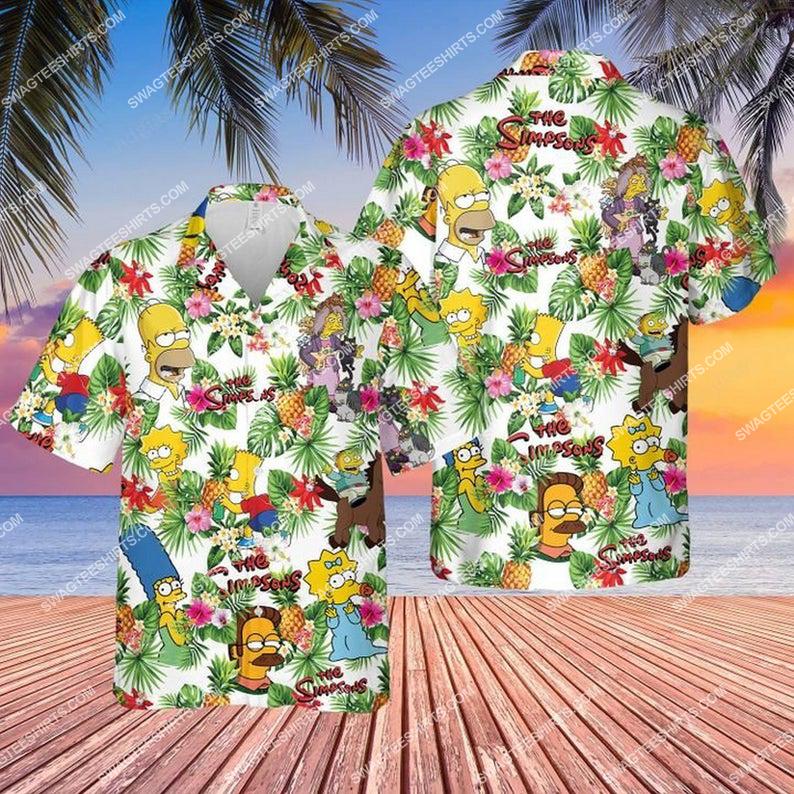 The simpsons tv show summer vacation hawaiian shirt 1 - Copy (2)