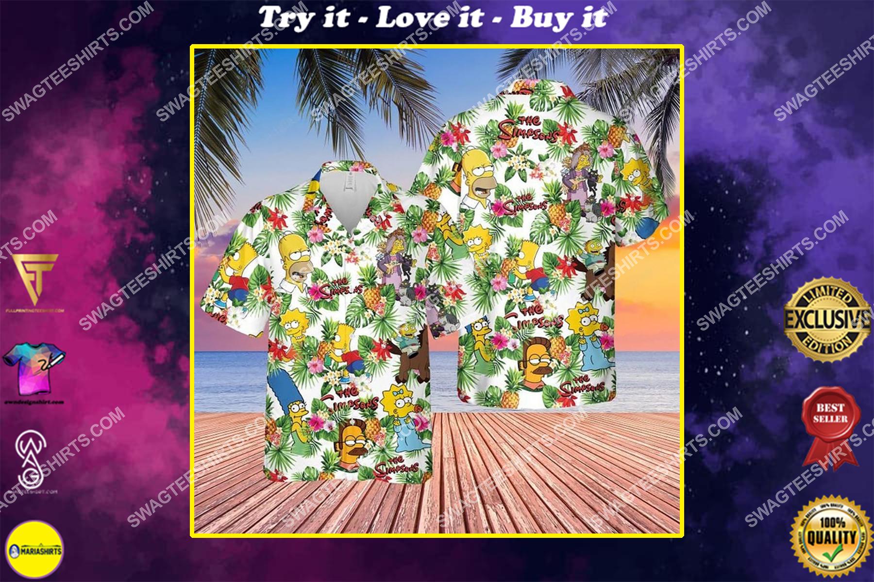 The simpsons tv show summer vacation hawaiian shirt