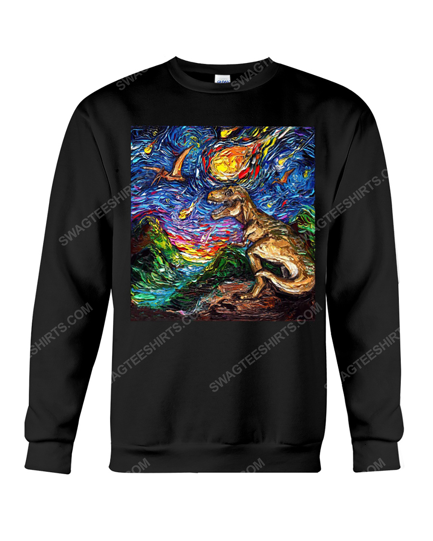 The vincent van gogh starry night dinosaur sweatshirt 1