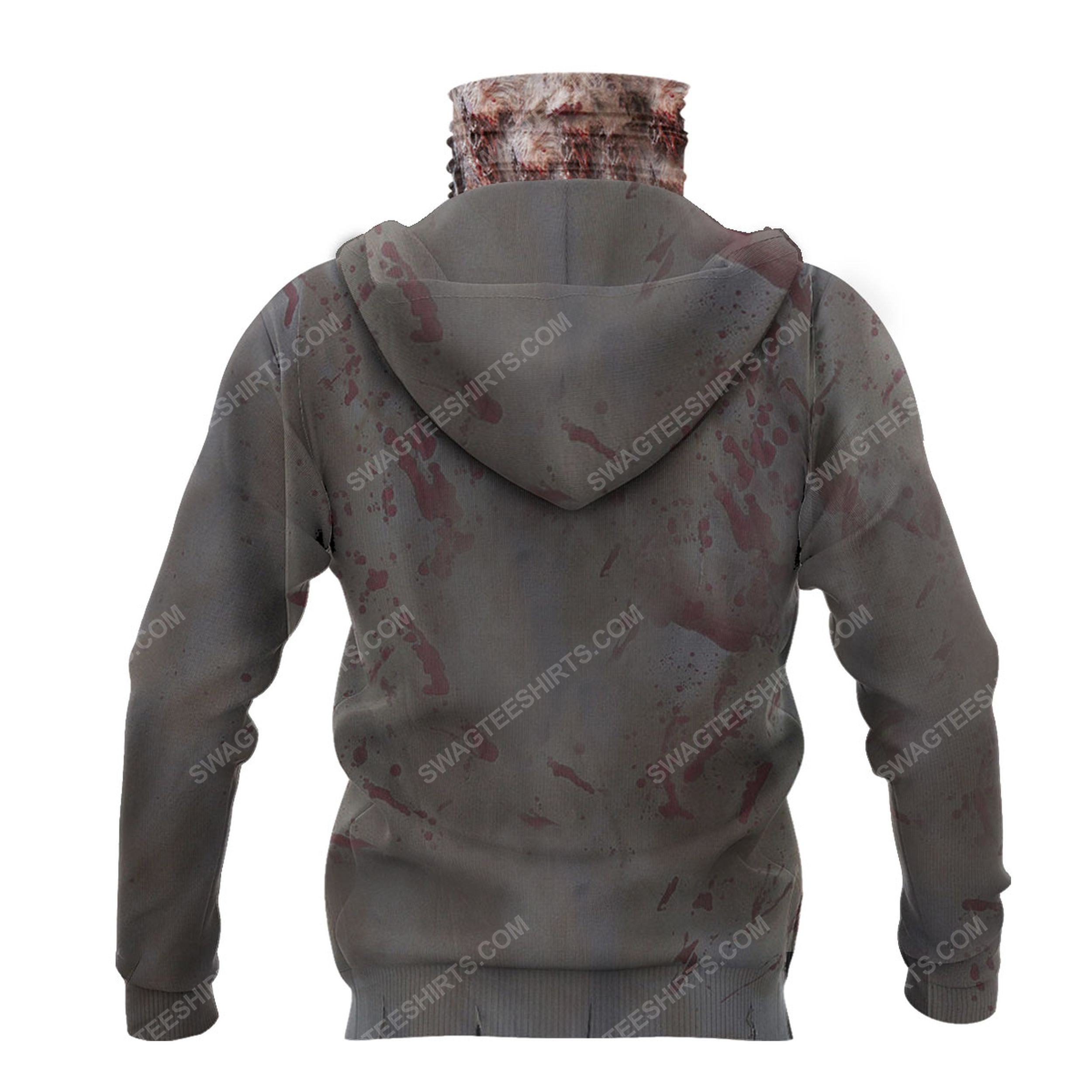 The zombie for halloween full print mask hoodie 3(1)