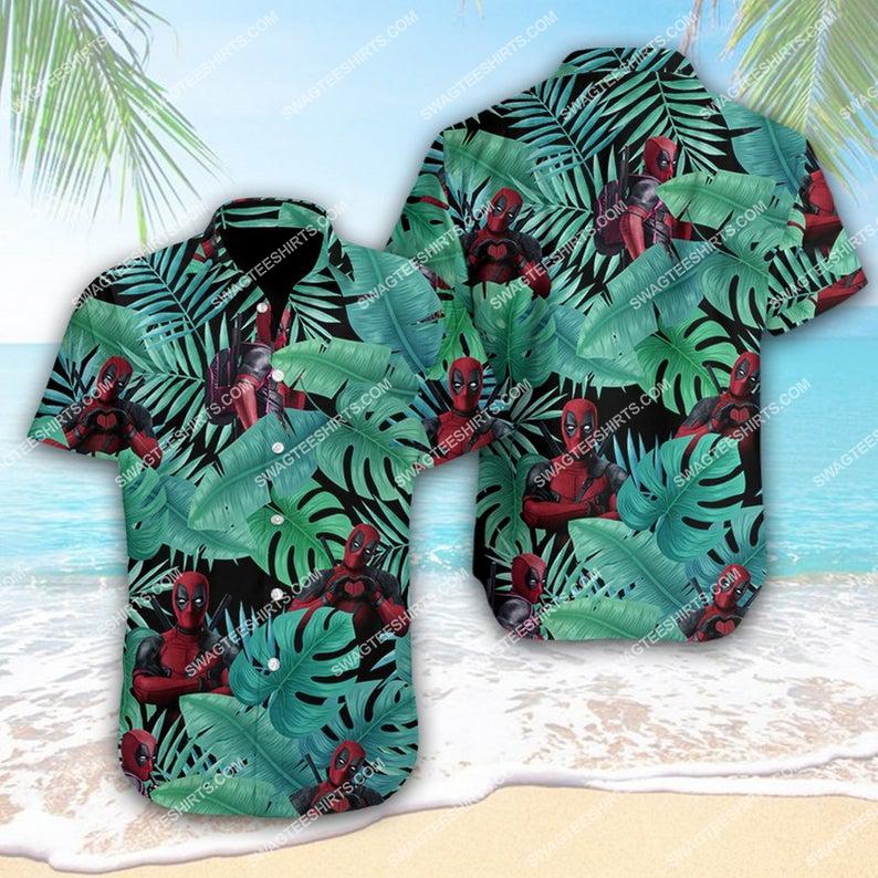 Tropical deadpool marvel comics hawaiian shirt 1