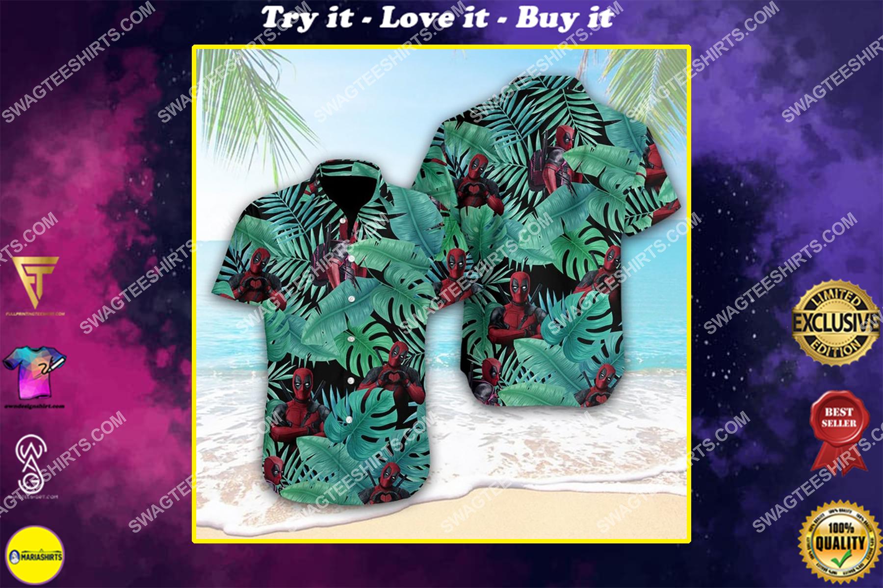 Tropical deadpool marvel comics hawaiian shirt