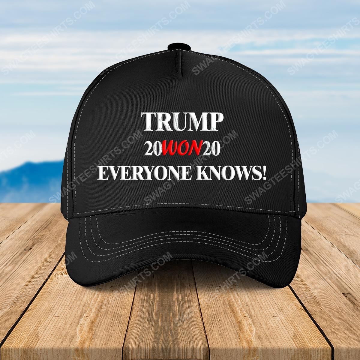 Trump 20won20 everyone american flag full print classic hat 1