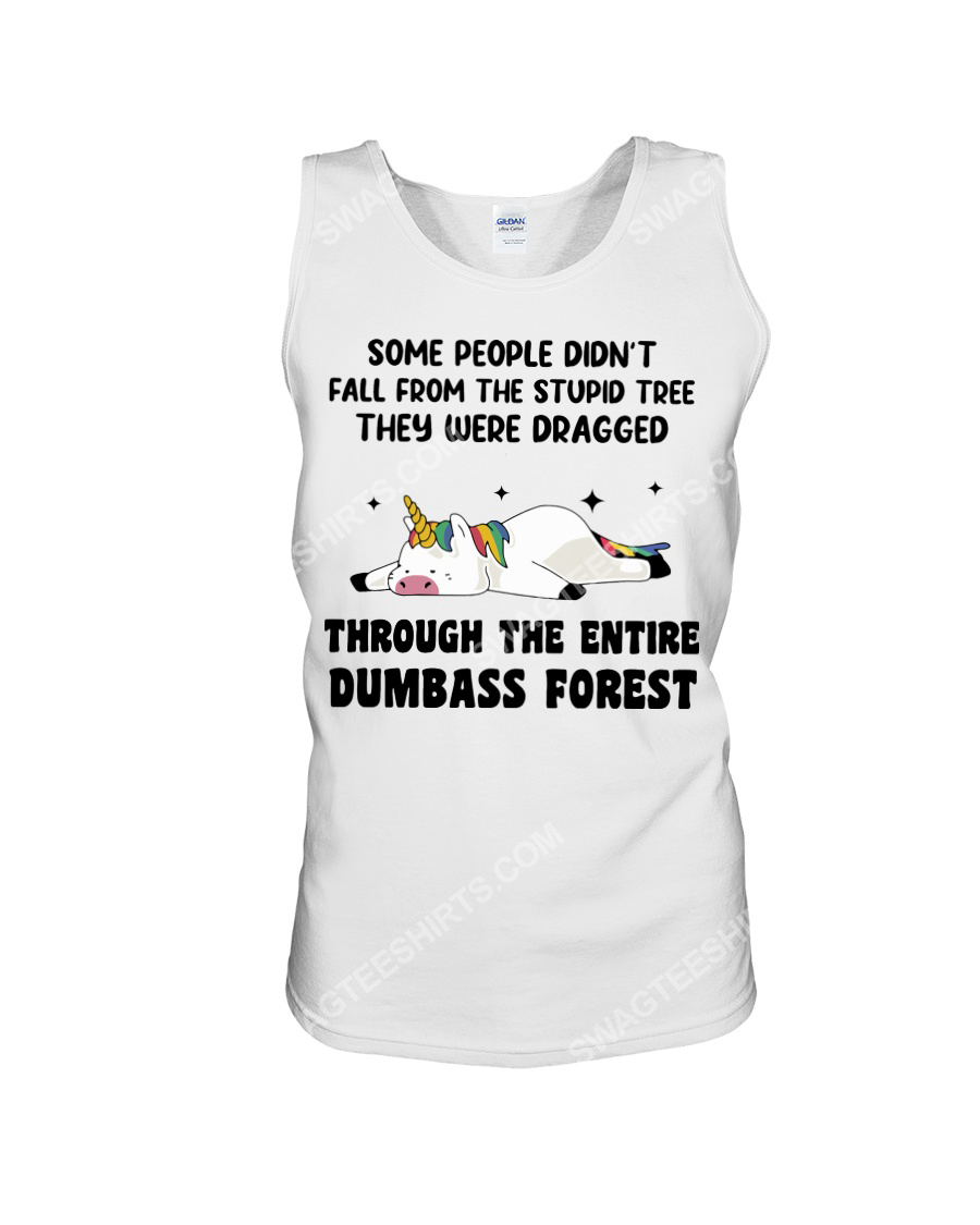 Unicorn some people didn't fall from the stupid tree tank top 1