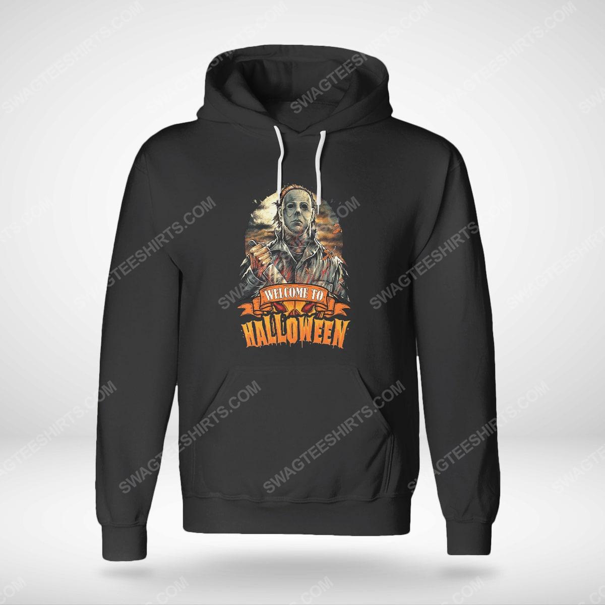 Vintage michael myers welcome to halloween hoodie(1)