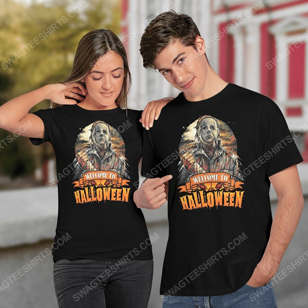 Vintage michael myers welcome to halloween shirt 2(1)