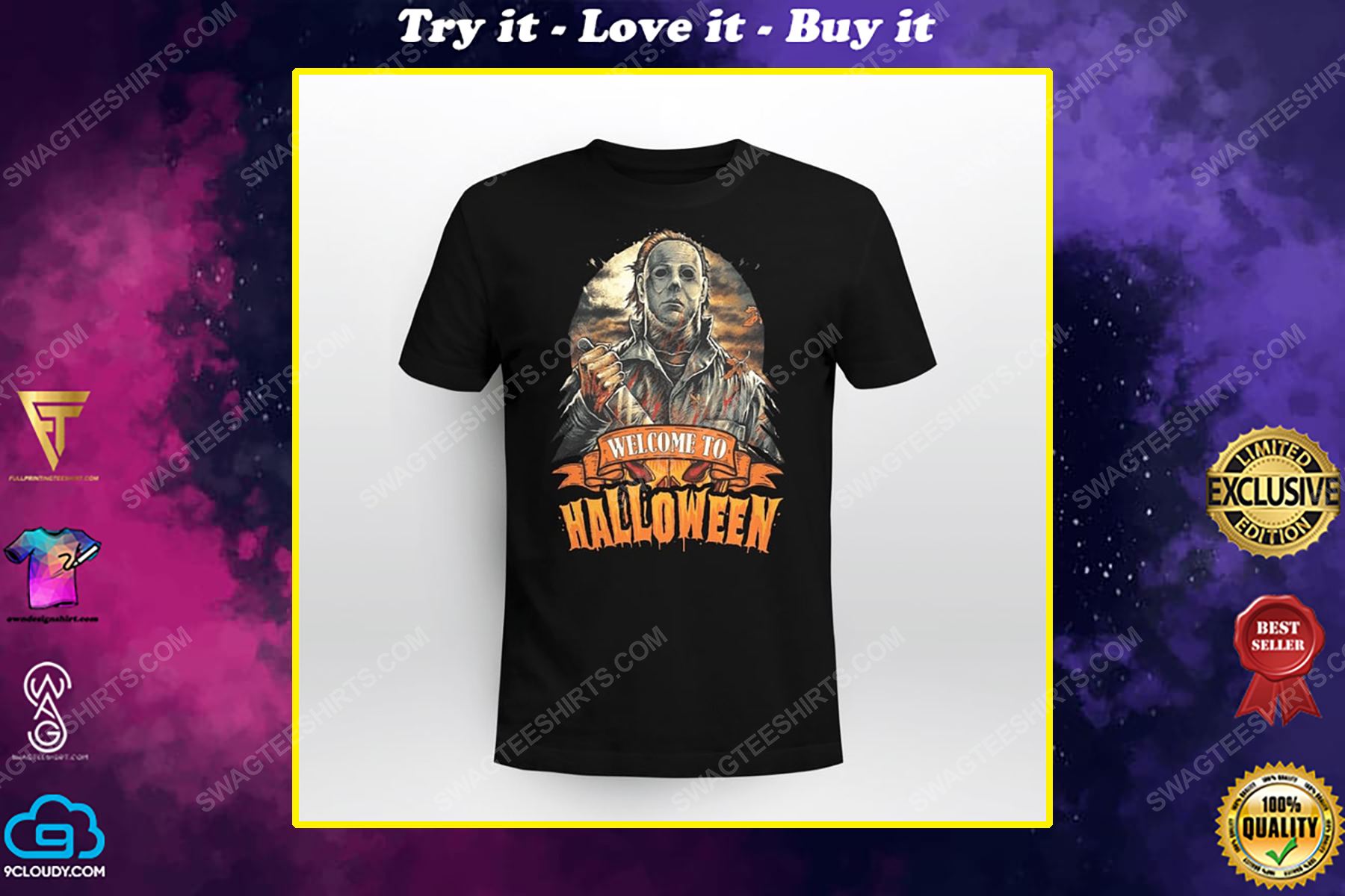 Vintage michael myers welcome to halloween shirt